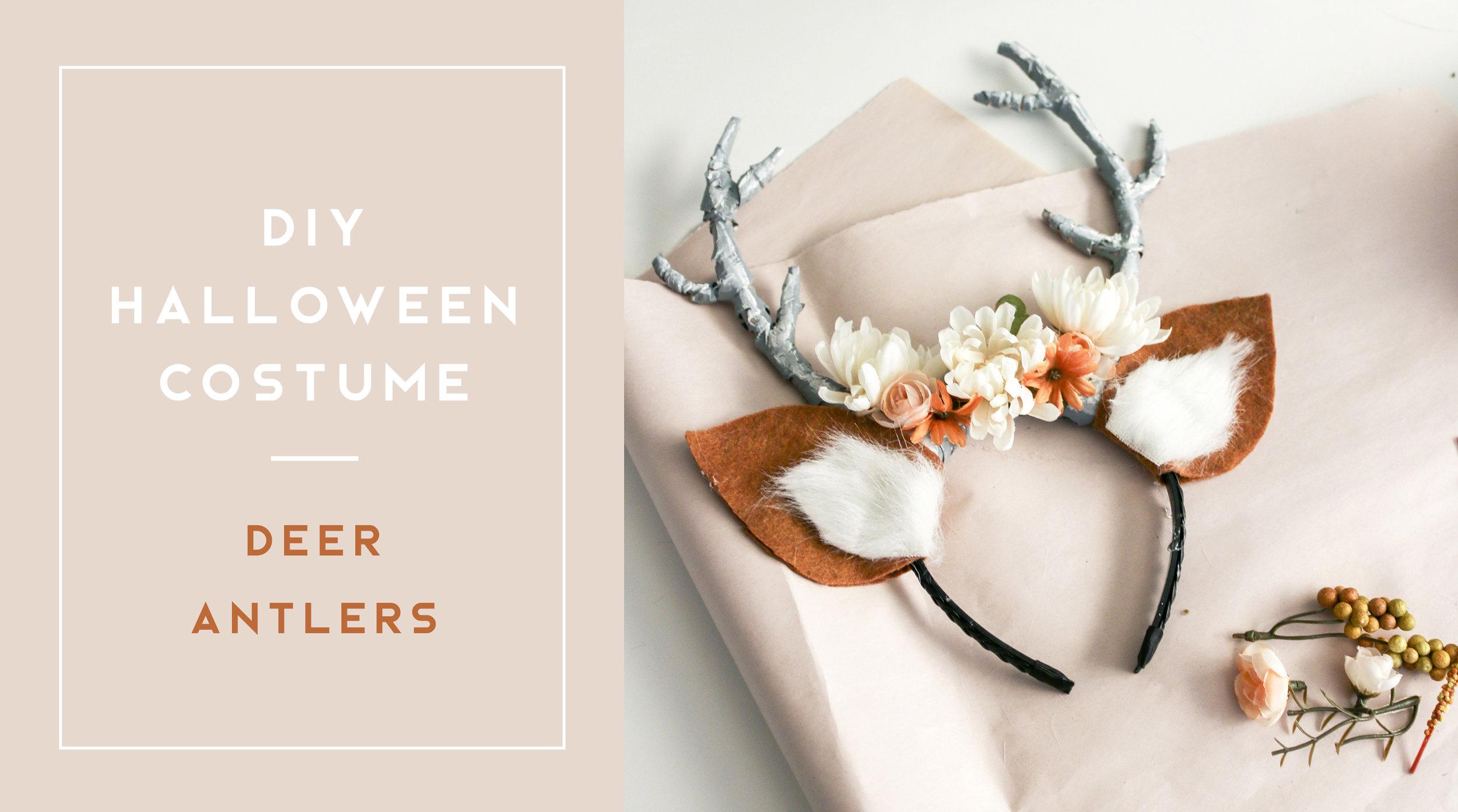 DIY Deer Antlers Halloween Costume
