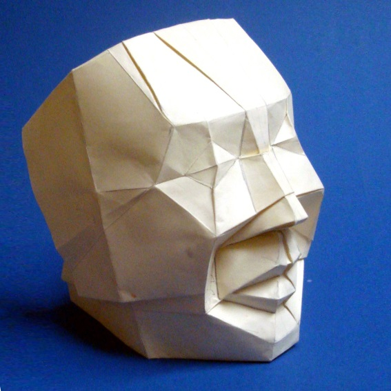 The Human Face is folded from one uncut square paper.