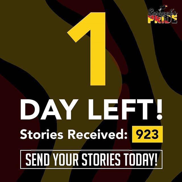 We have one day left! 😧 Hurry up and send in your stories before it ends tomorrow!  Click on the link in our bio and stand a chance to win some amazing prizes!  #sarawakpride #sarawak #miri #sibu #apple #macbook #iphone #airpods #story