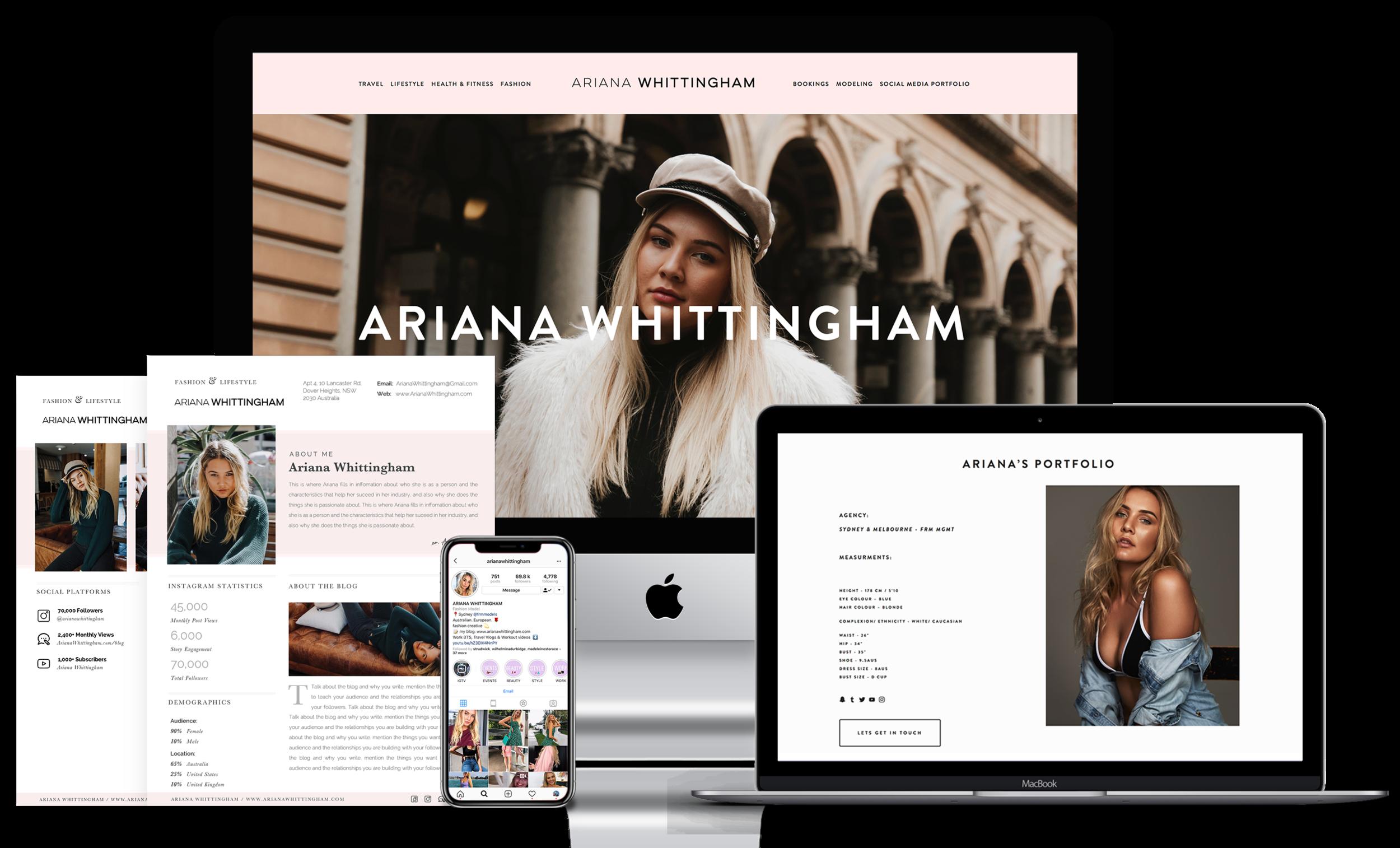 Ariana Whittingham package mockup