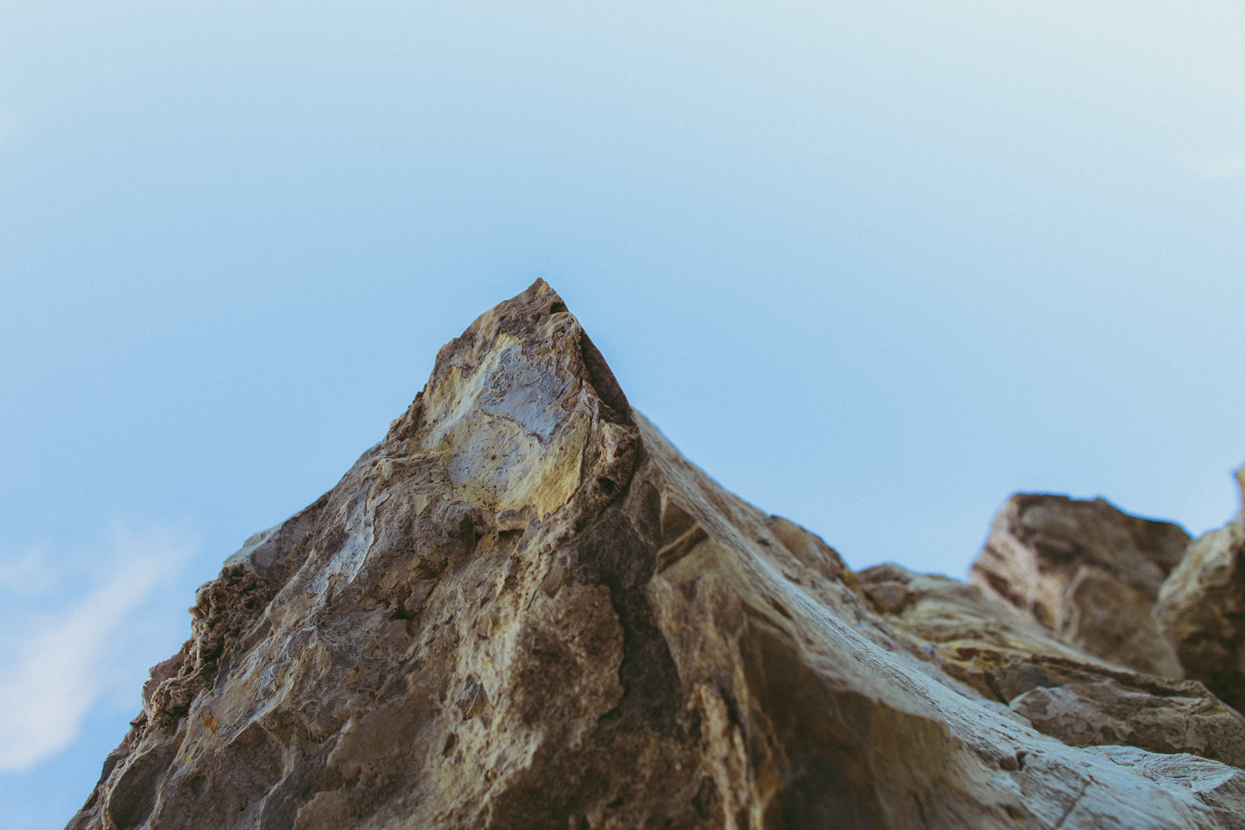 Pointy mountain, or upside down rock?