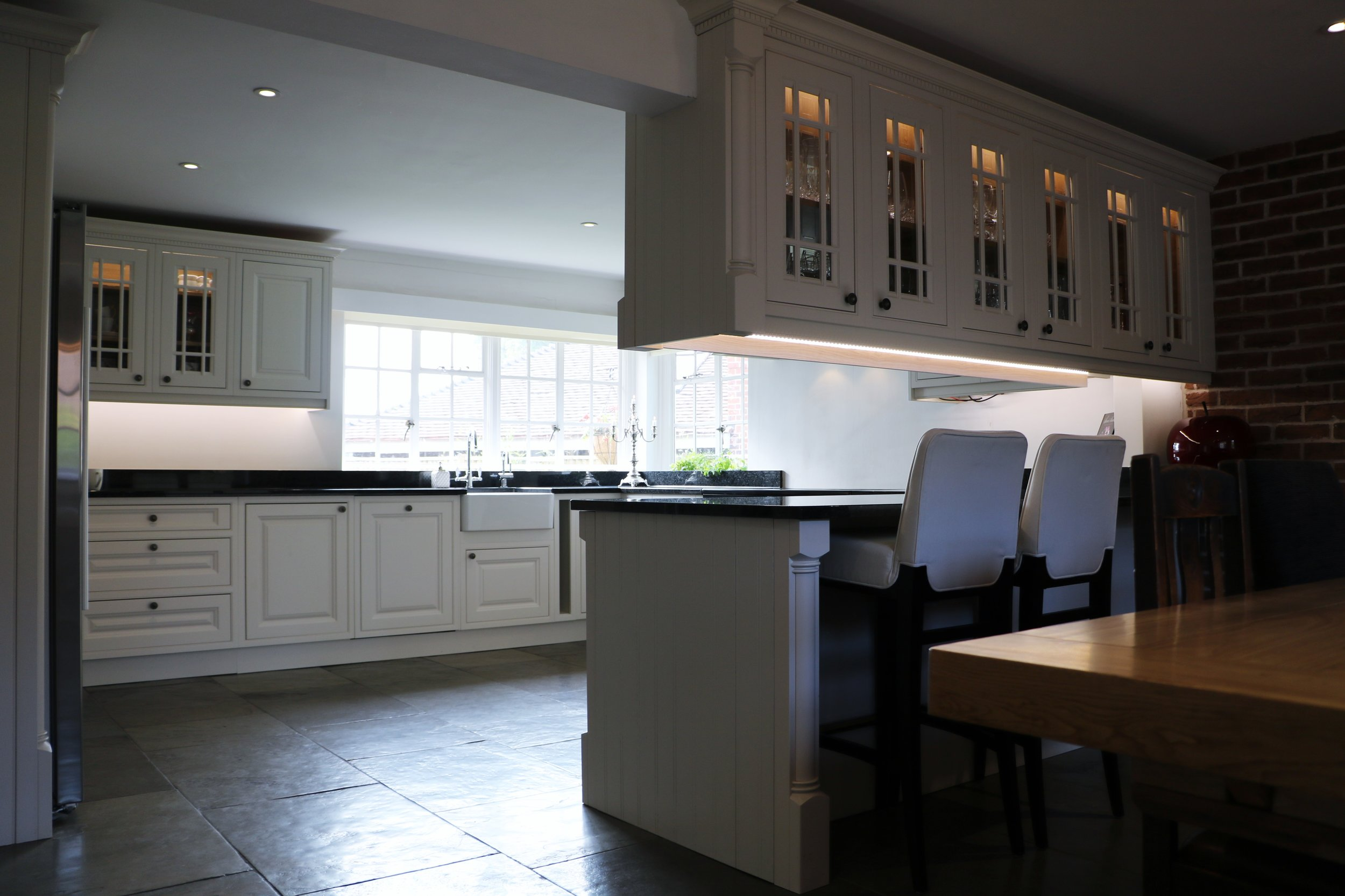 Beautiful kitchen with doors