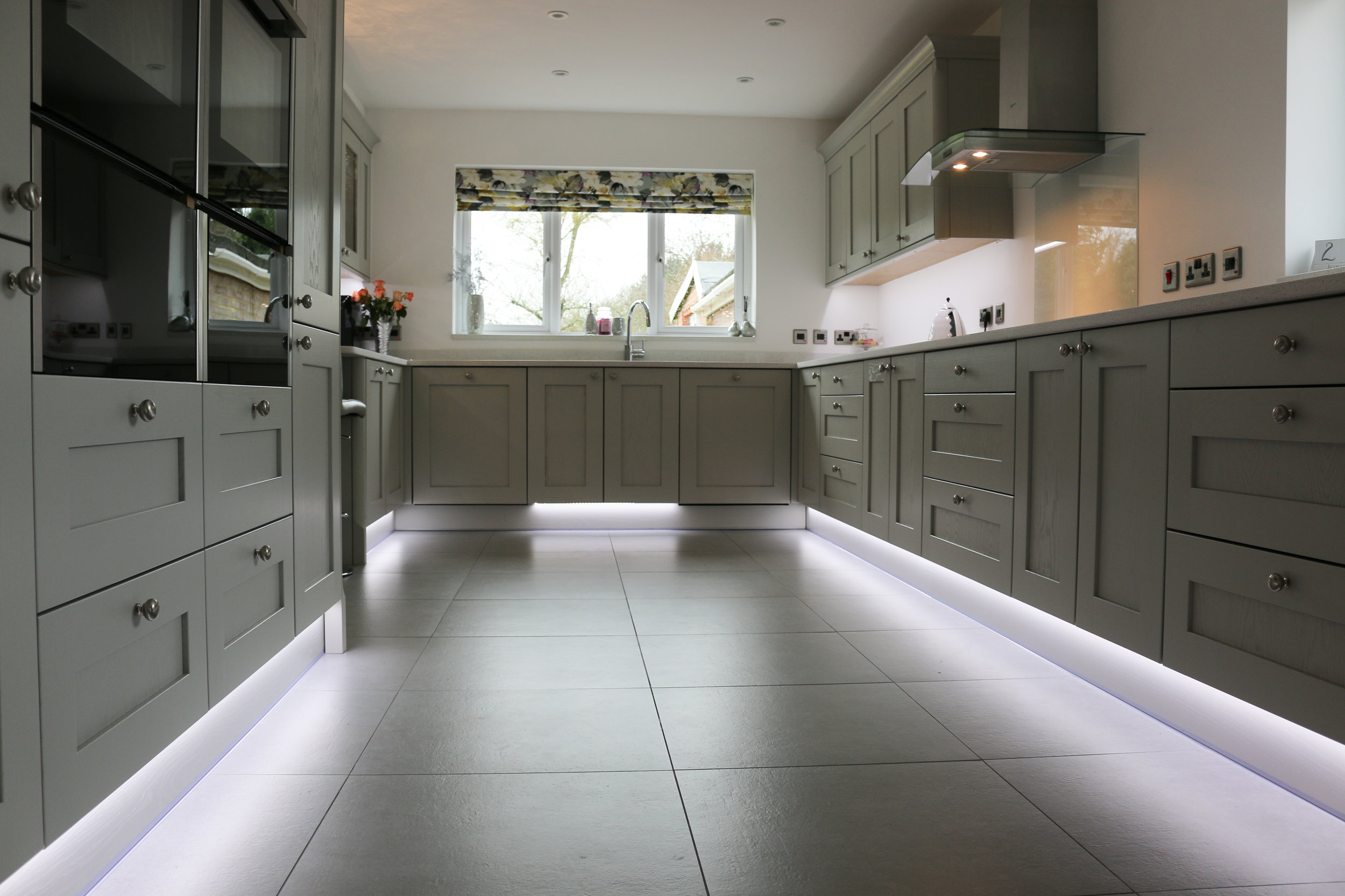 Beautiful kitchen with doors