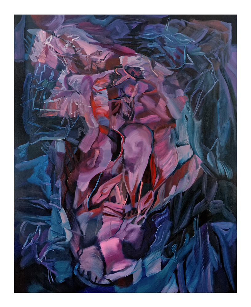 Barycenter IV  120 x 150 cm  Oil on Canvas  Louis Savage