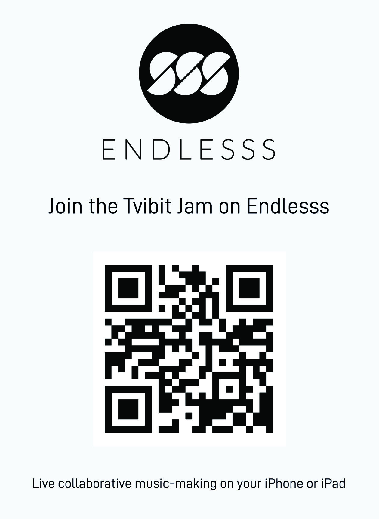 Scan the QR code to download the Endlesss app and meet the development team at Proto 2019.