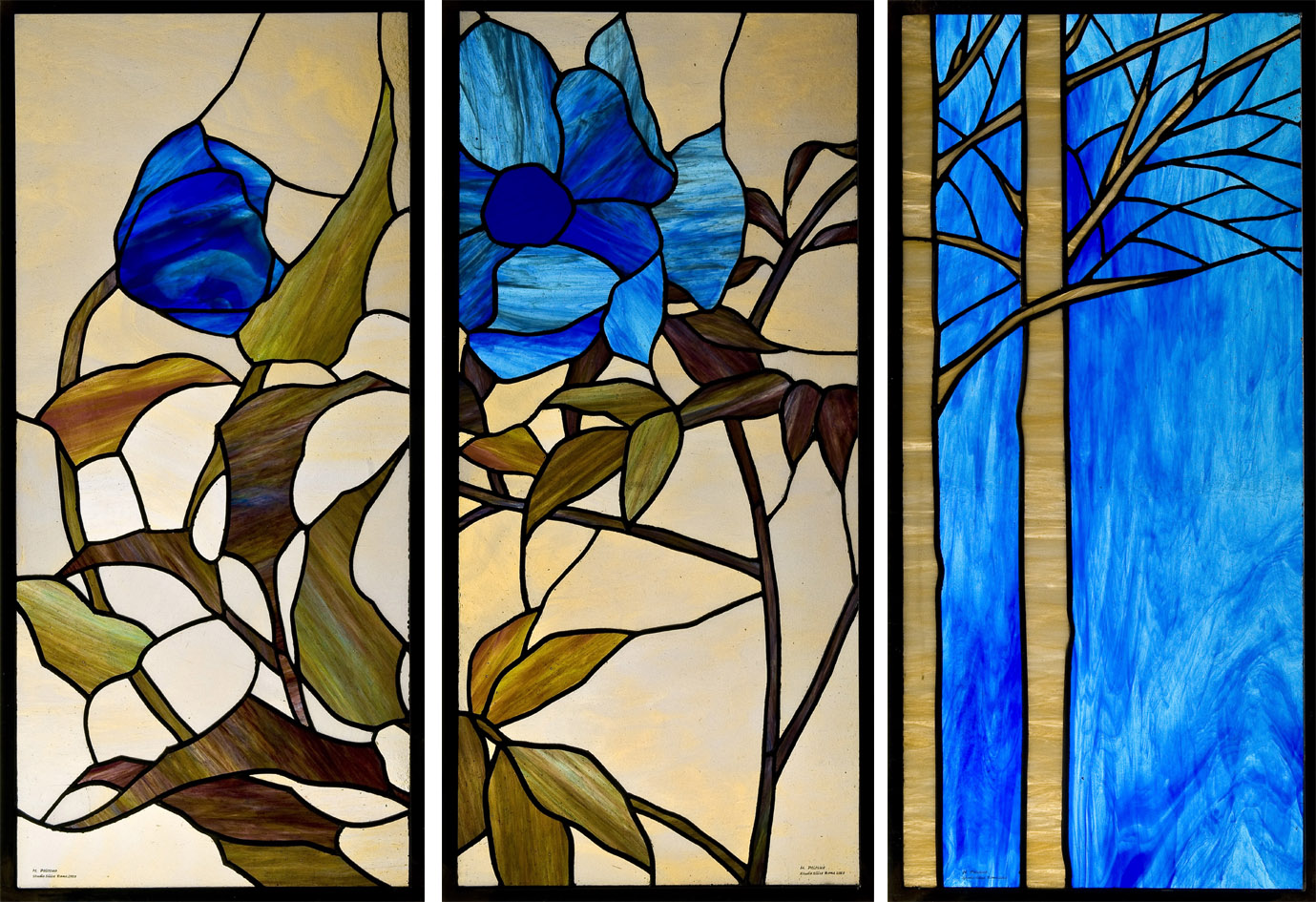 Contemporary Floral Stained Glass