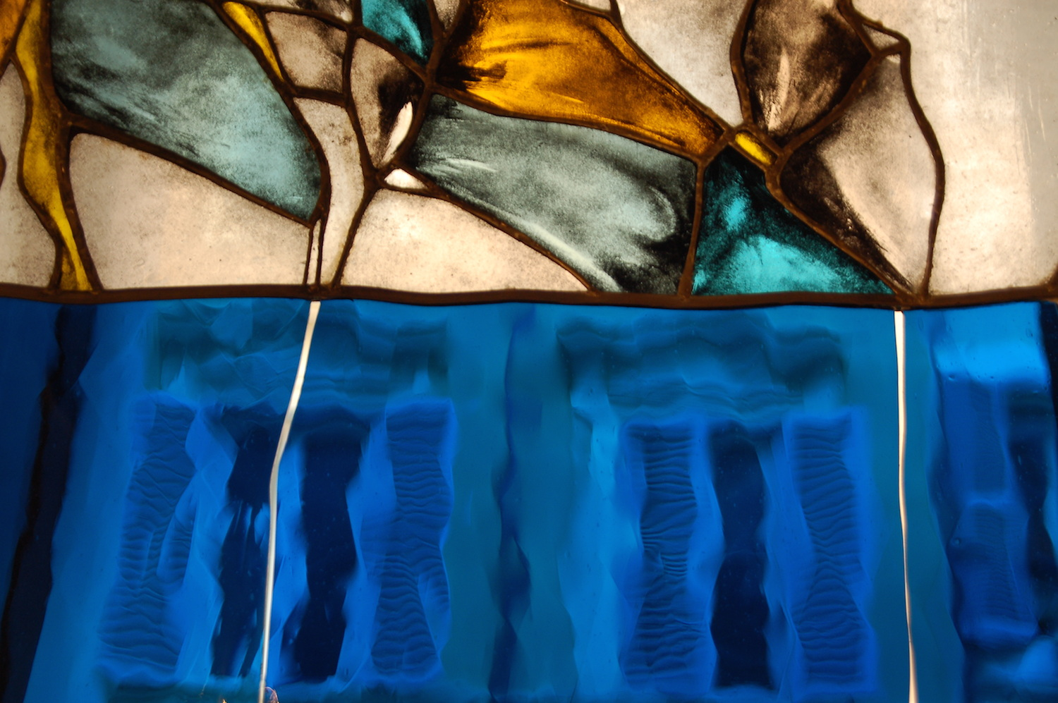 Contemporary Stained Glass. Detail