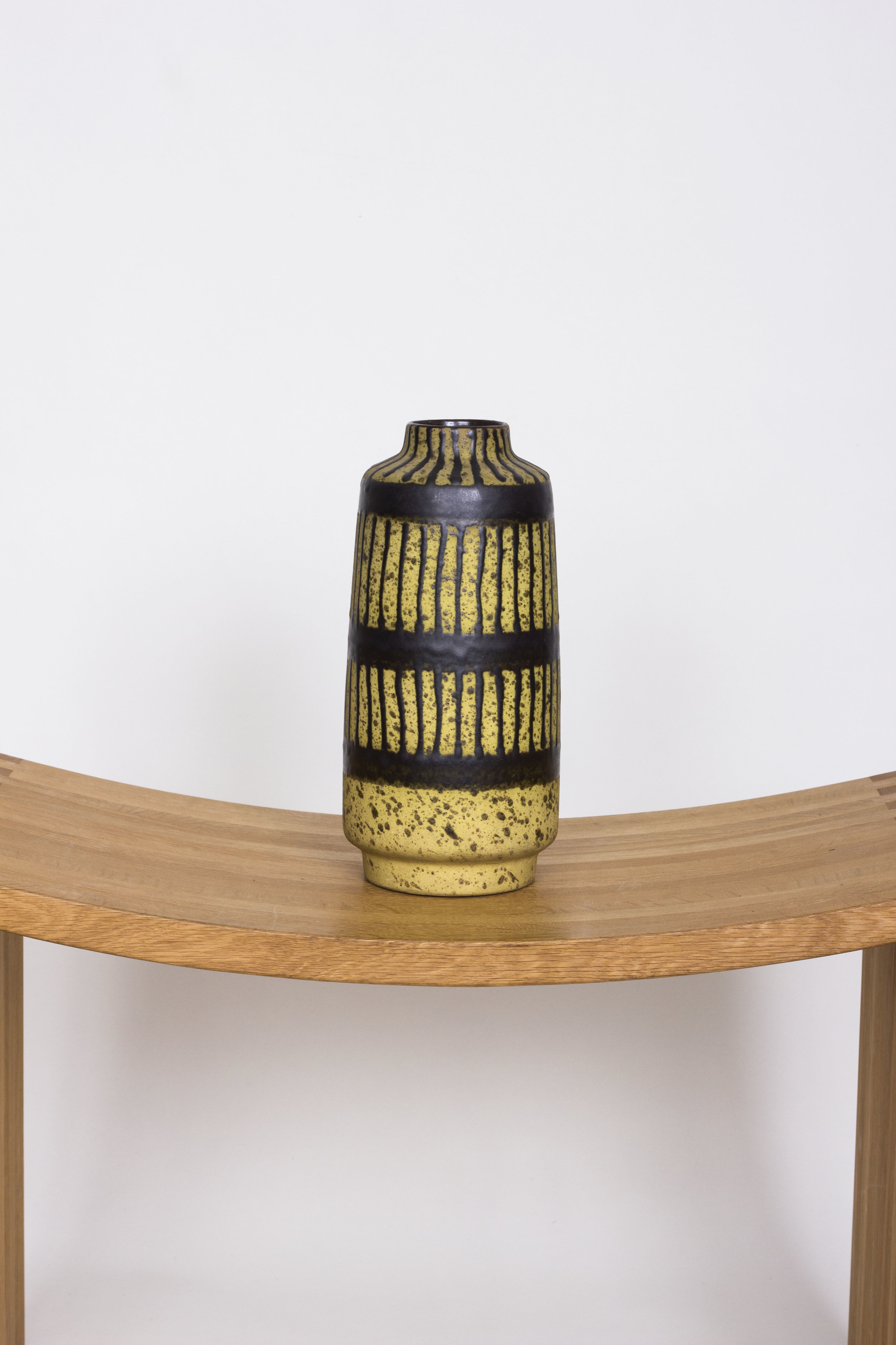 Yellow and black West German pot £65