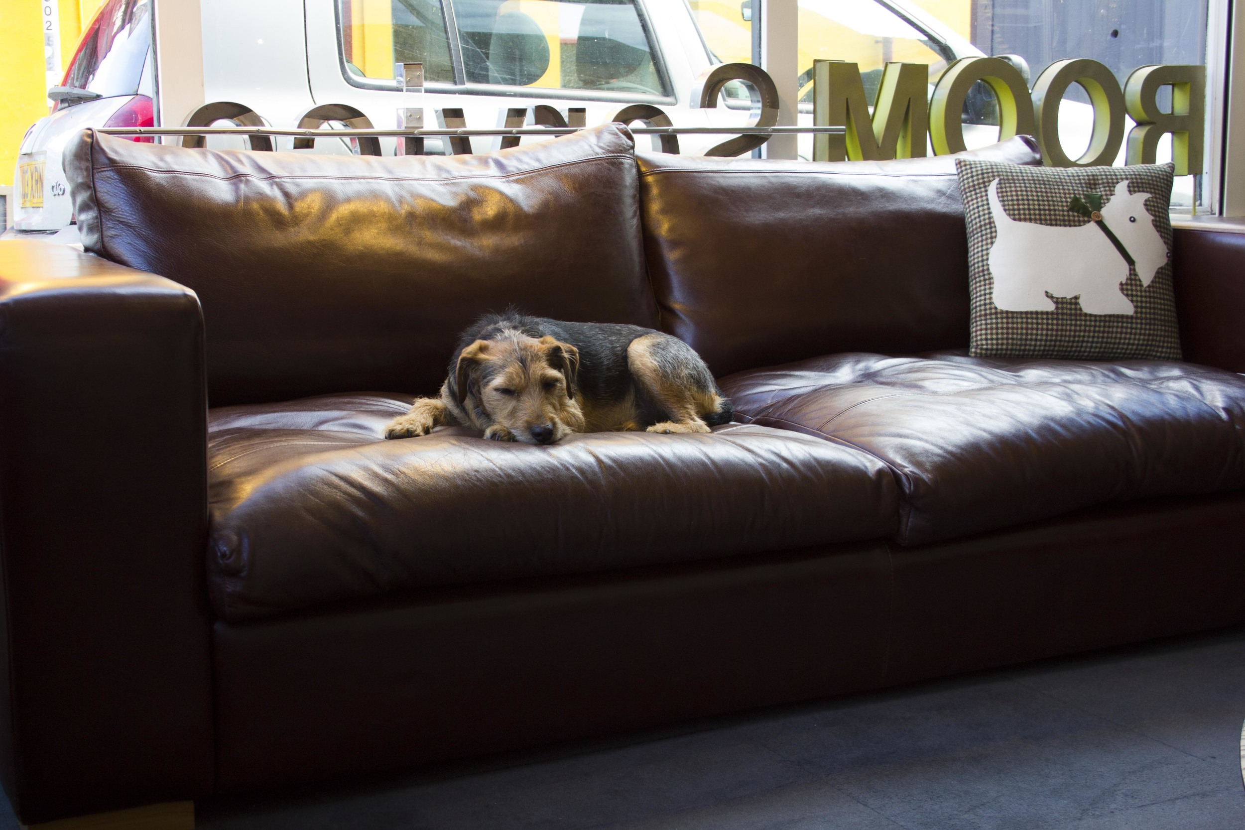 SOLD -  Leather sofa £450