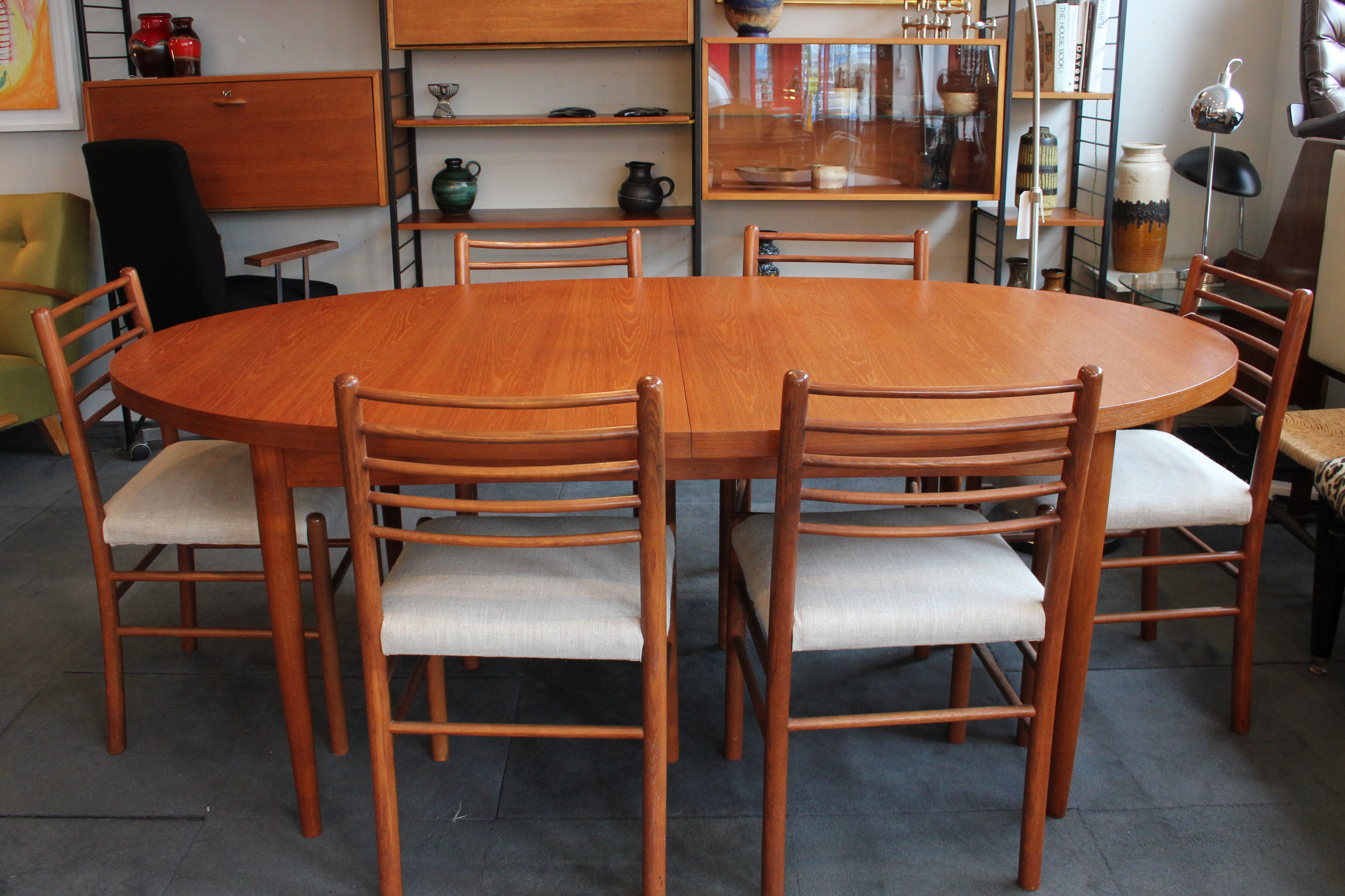 Set of 6 teak chairs. £275