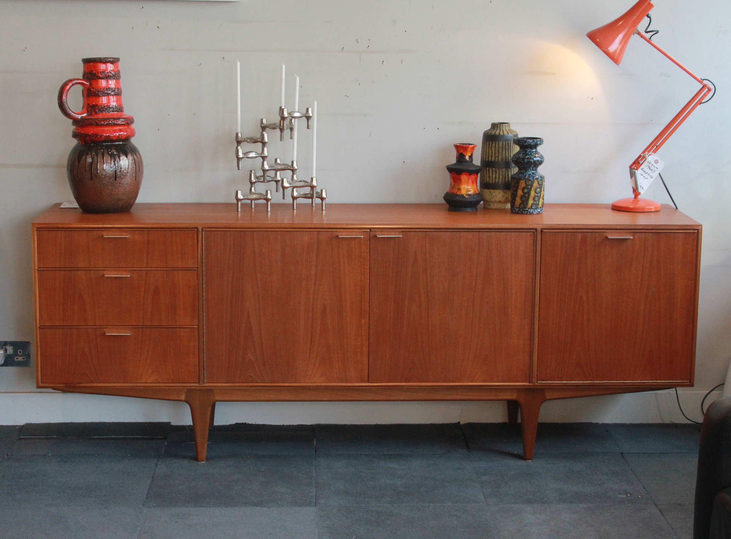 SOLD  -   teak sideboard by mckintosh of kilkardy £475.
