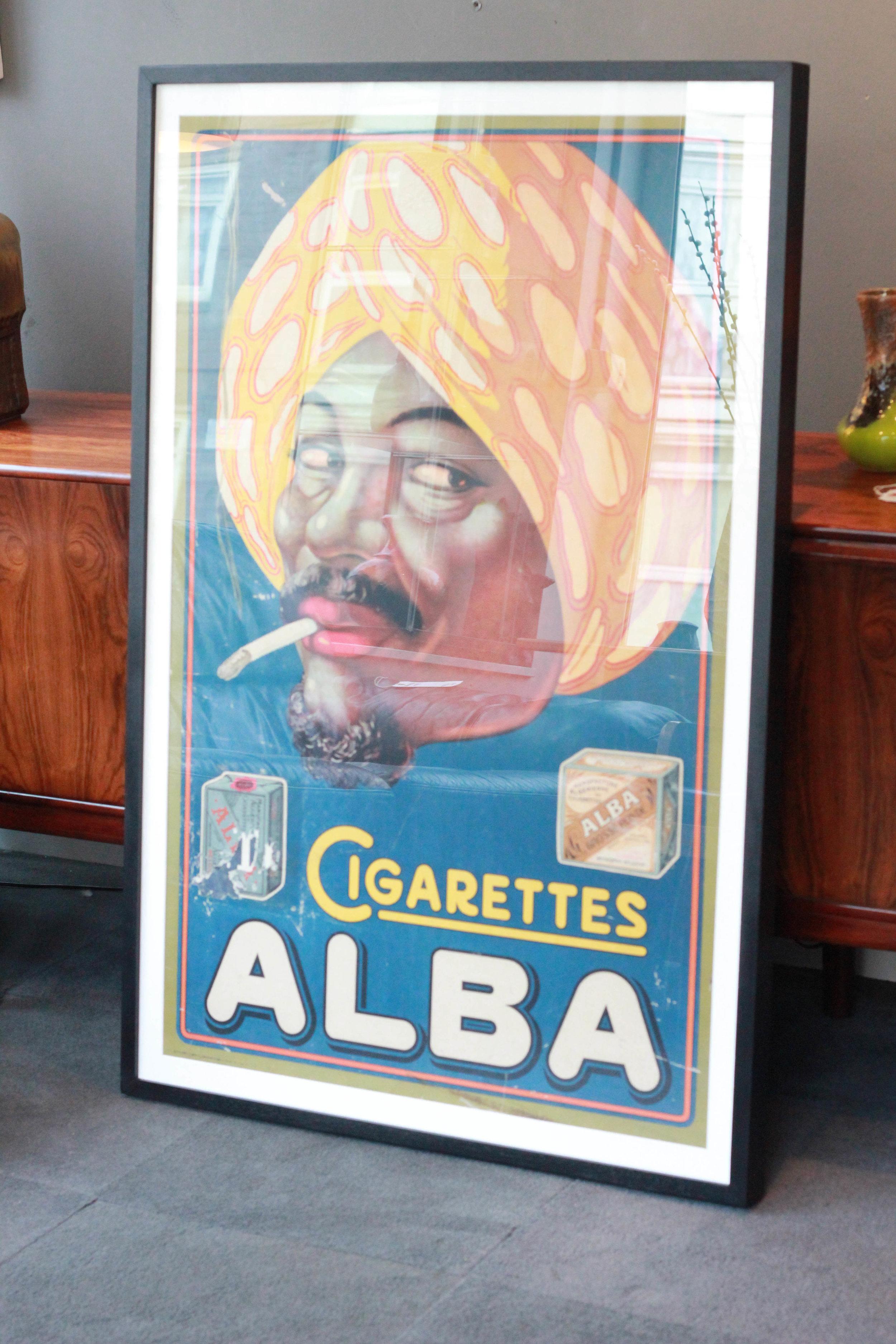 Original Alba Cigarette Poster, Framed £1200