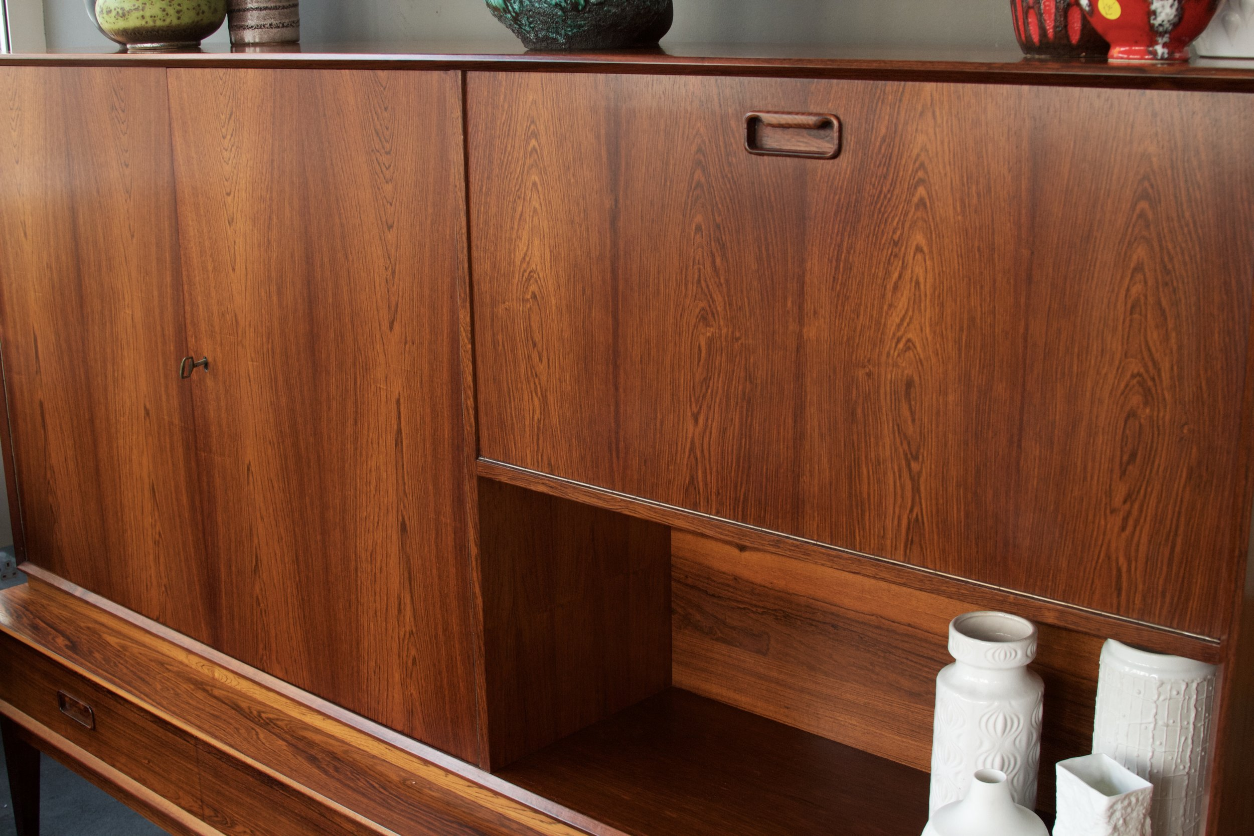 danish rosewood cocktail/record cabinet