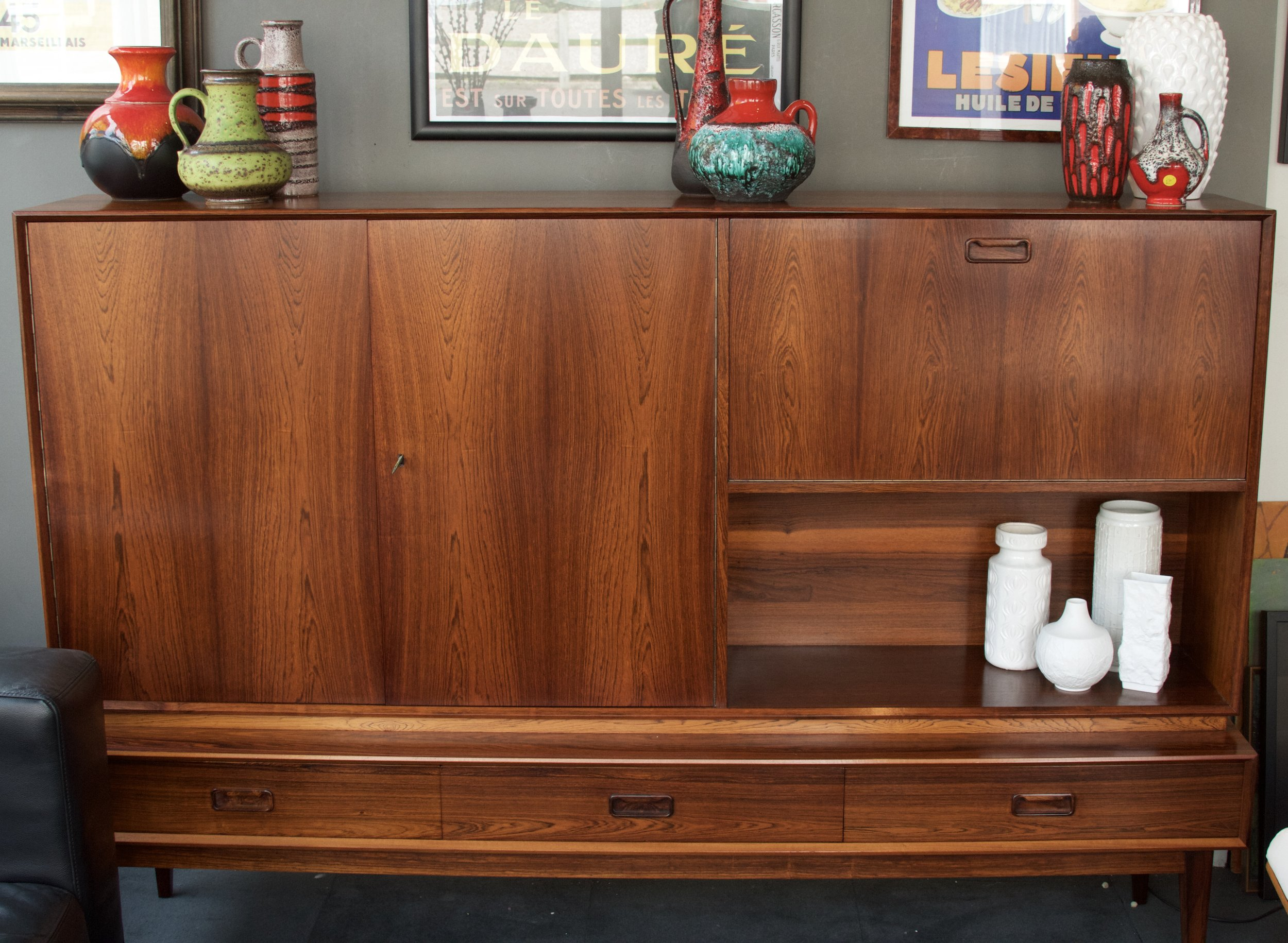 Danish rosewood cocktail/record caninet