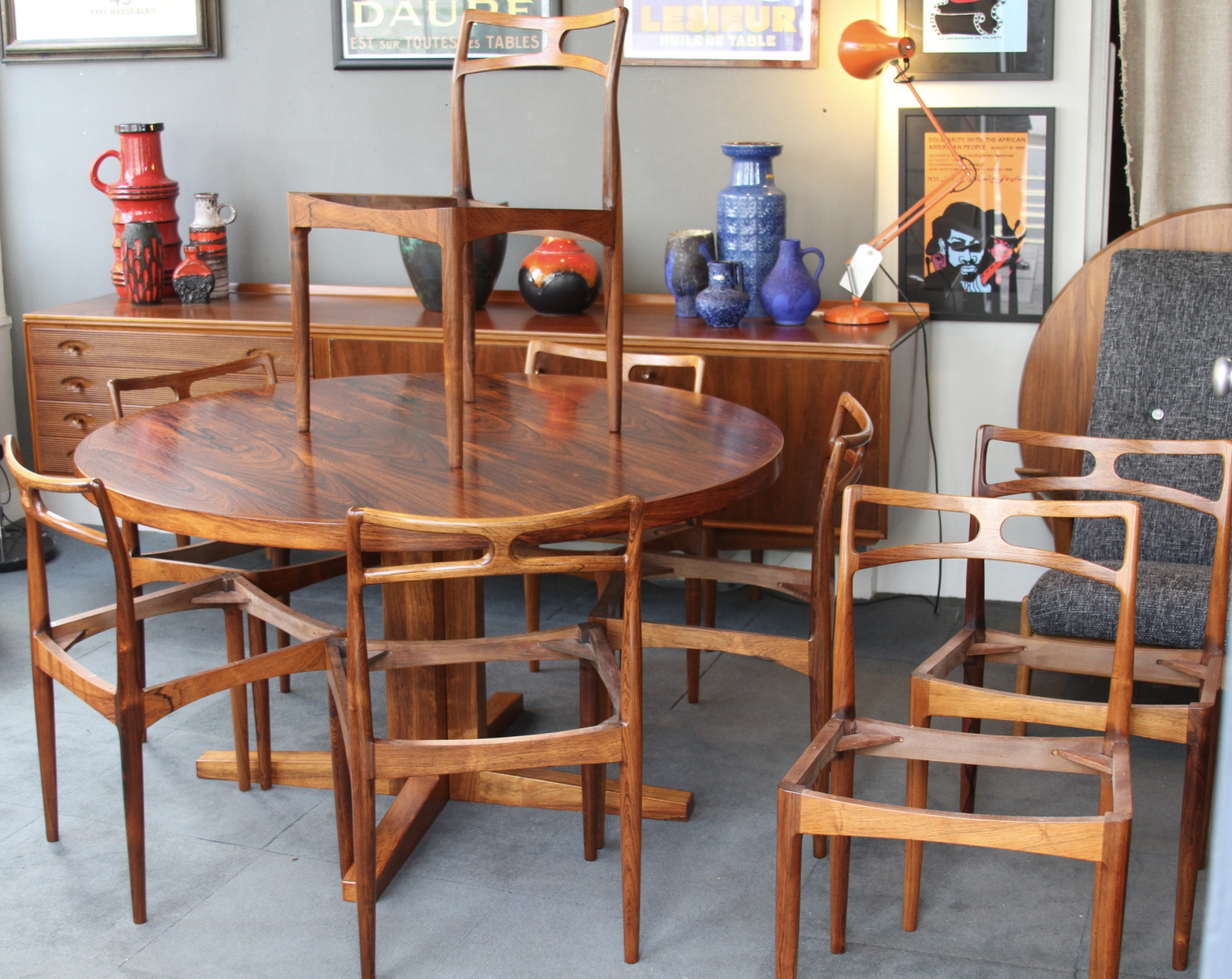Set 8 Rosewood Chairs - Johannes Andersen £2500