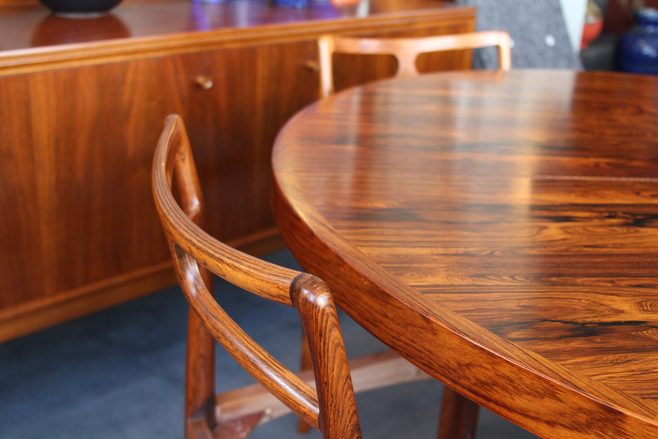 Danish Rosewood Table and Chair