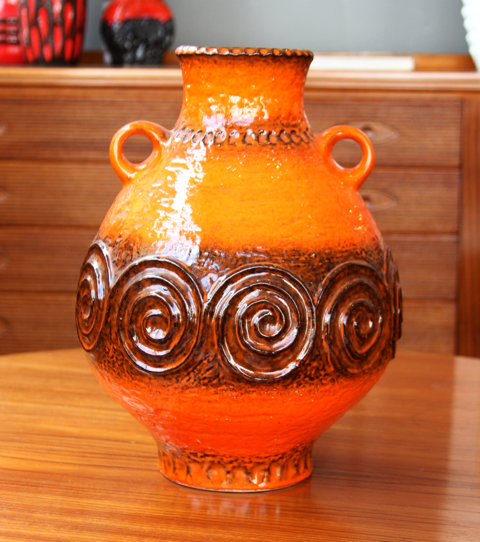 West German Large Orange Pot £85