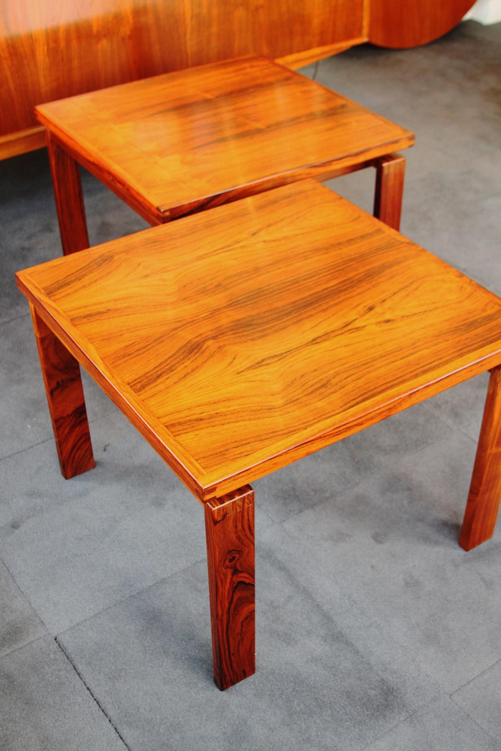 Pair Rosewood 'Trioh' Tables £550