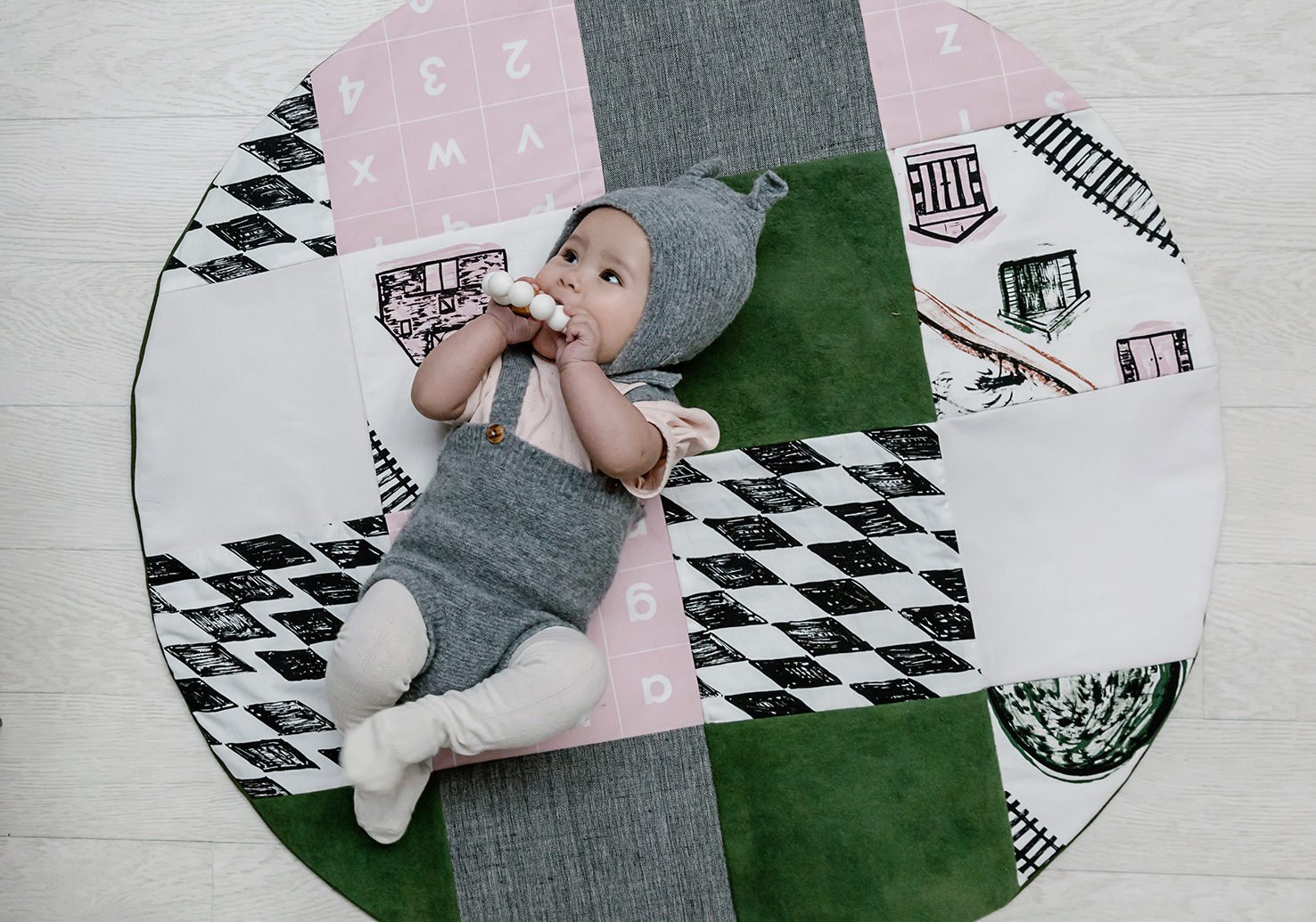 Pink and Olive Play Mat
