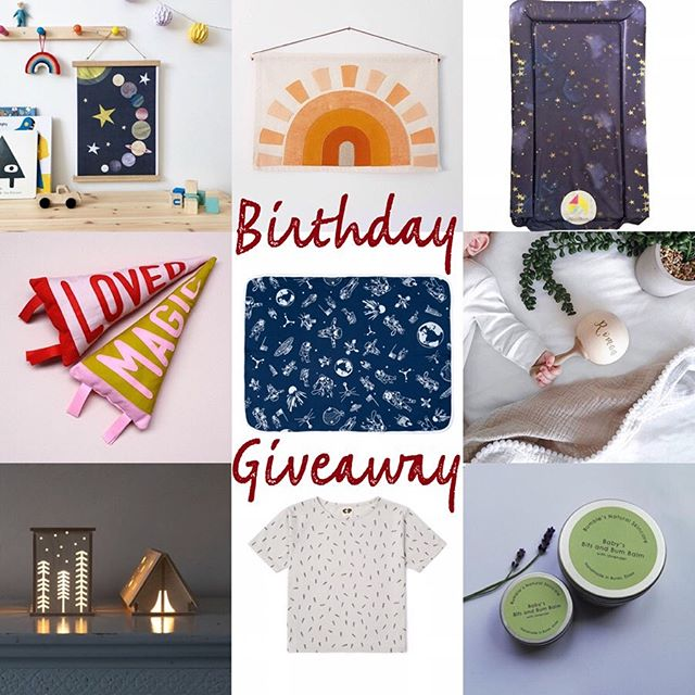 Happy Sunday! It's our 4th Birthday this week (seems to come around quicker every year) and to celebrate I am giving away A Personalised Navy Space Blanket along with all of these fabulous prizes from my Insta Friends! To win all of the great prizes shown just be sure you are following all of the brands tagged (I will be checking 😉) and like this post! Tag a friend or two below for extra entries. Each comment will be counted as an entry. * The giveaway will end this Fri at 9pm and the winner will be announced Sun 30th June. UK entries only please. This giveaway is in no way sponsored by Instagram and all entrants must be 18 or above.