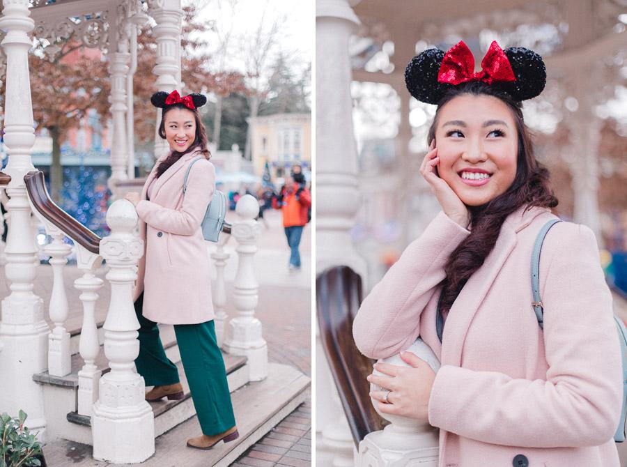 Chen Sands Photographer Paris Disneyland in Winter Engagement Session - dyptich 2.jpg
