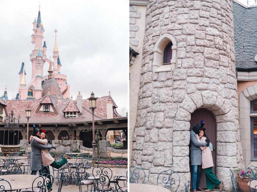 Chen Sands Photographer Paris Disneyland in Winter Engagement Session - dyptich 5.jpg