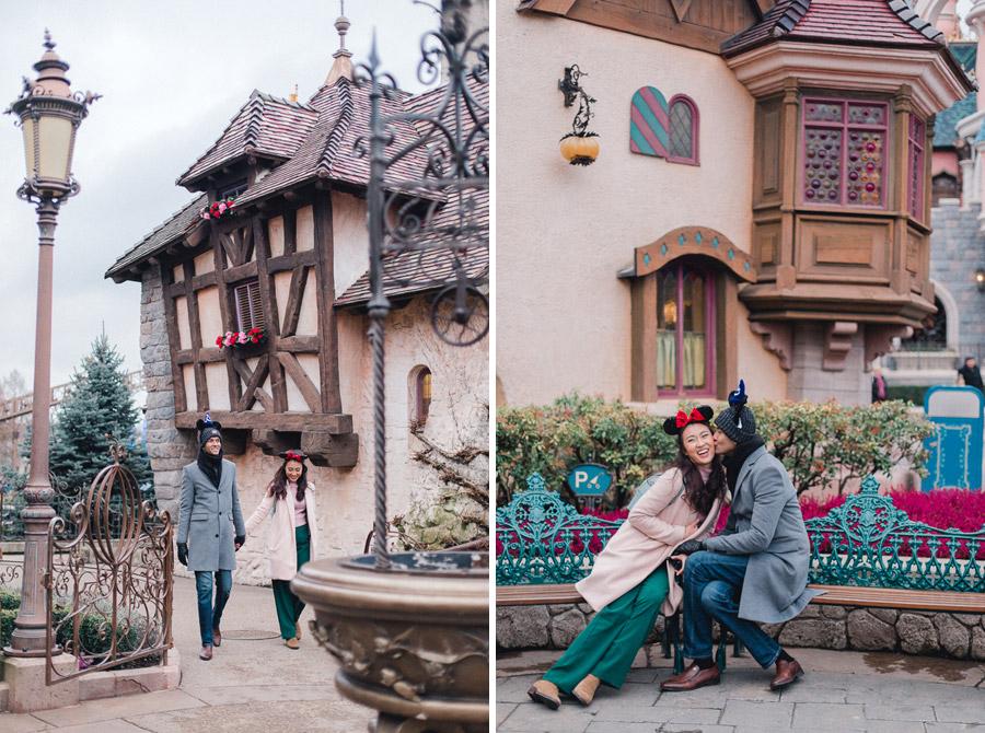 Chen Sands Photographer Paris Disneyland in Winter Engagement Session - dyptich 6.jpg