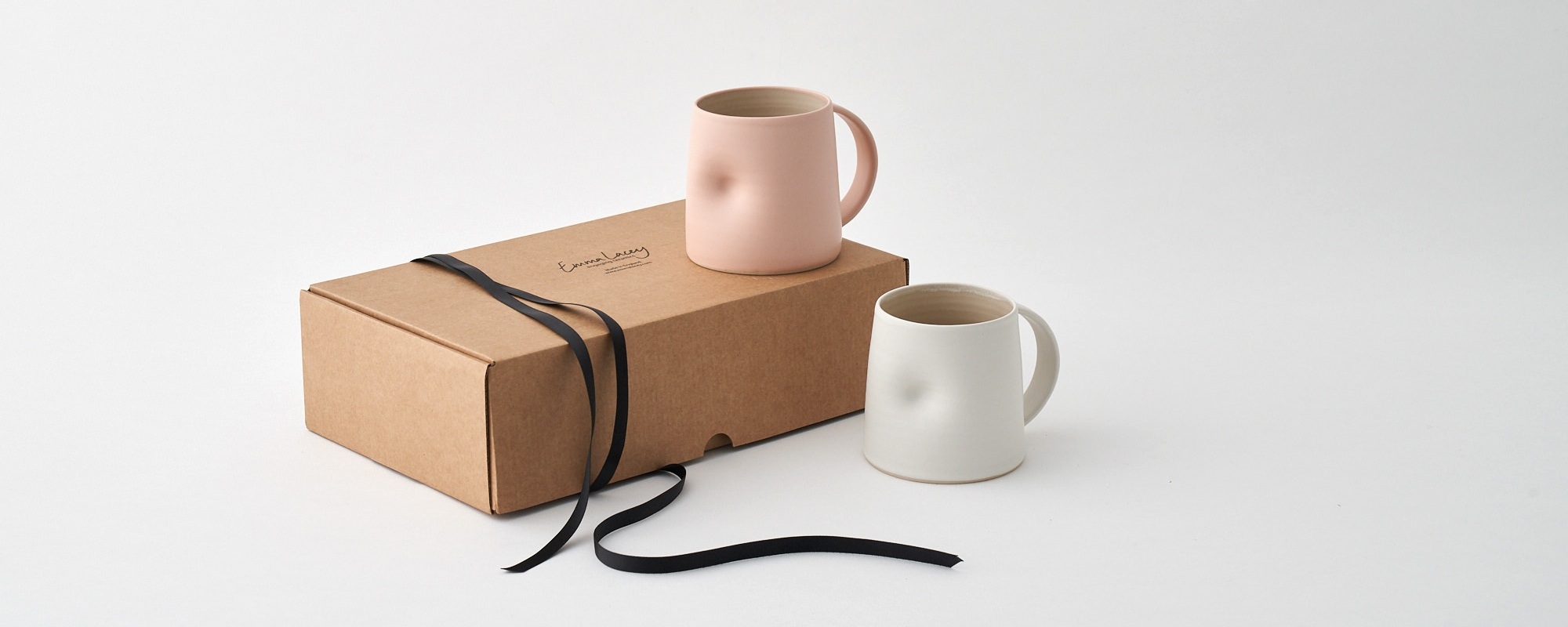 Everyday Large Mugs - An ideal set to enjoy your brew with Emma'ssignature hand thrown and dented mug.£65.00