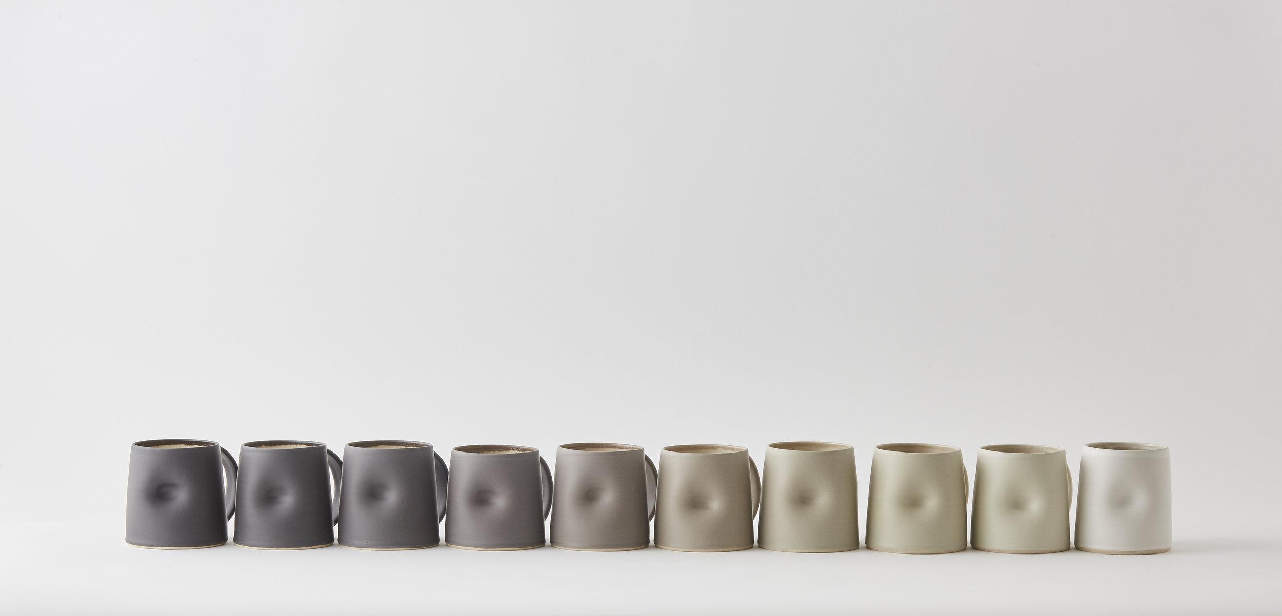 10 Eveyday Large Mugs in Greyscale - £360.00