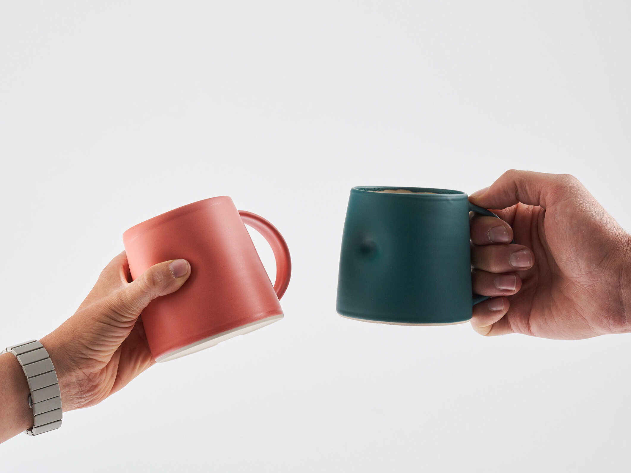Emma-Lacey-Everyday Mugs in Coral and Ivy