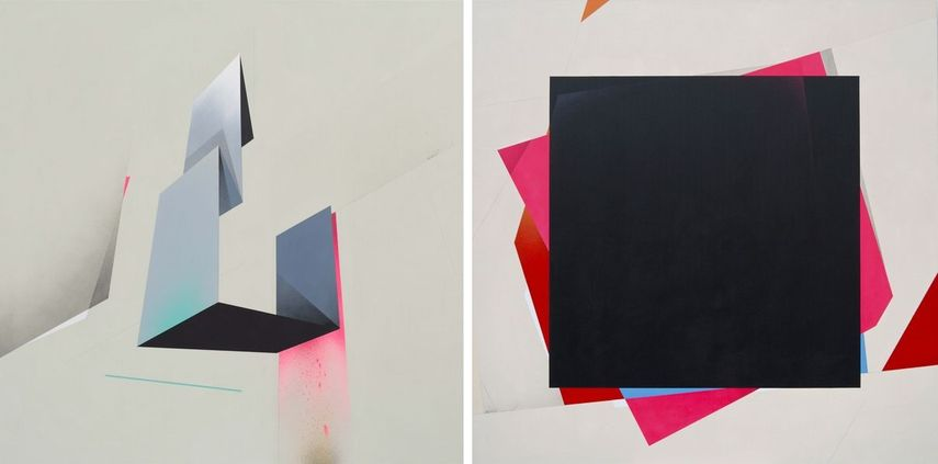 Left:  Remi Rough – Illuminated, 2017 /  Right:  Remi Rough – M E O, 2017