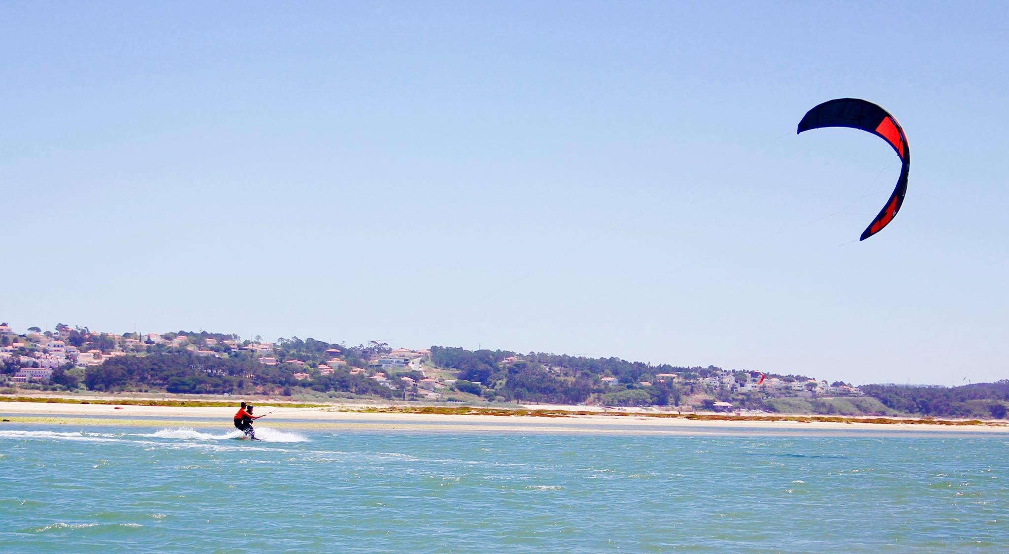 kiteboarding tandem