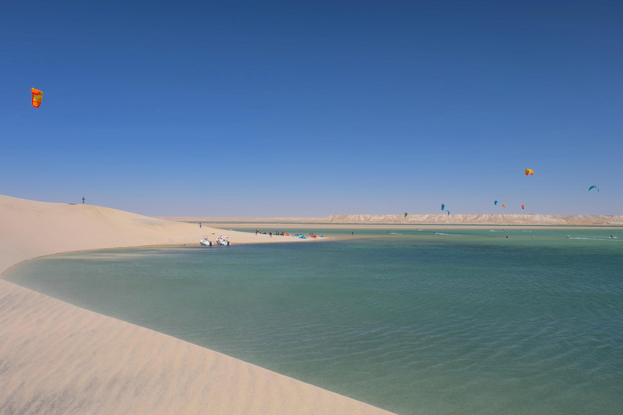 Dakhla white dune kiteboarding - Kite Control school.JPG