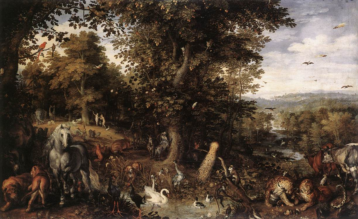 Photo: Jan Brueghel,  The Garden of Eden with the Fall of Man