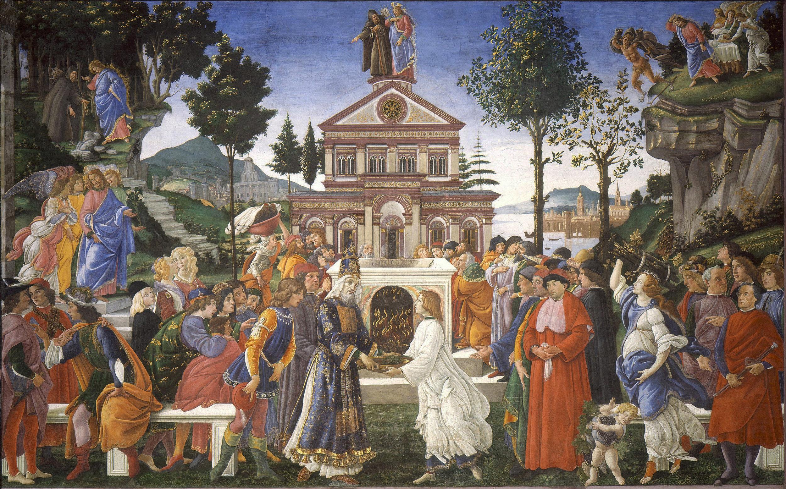 Photo:  Sandro Botticelli,  The Temptations of Christ