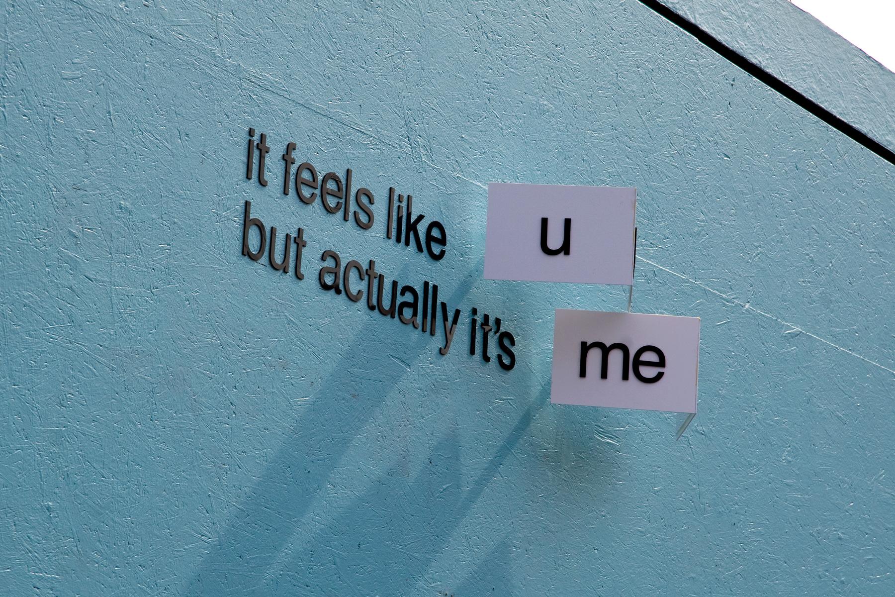it feels like...