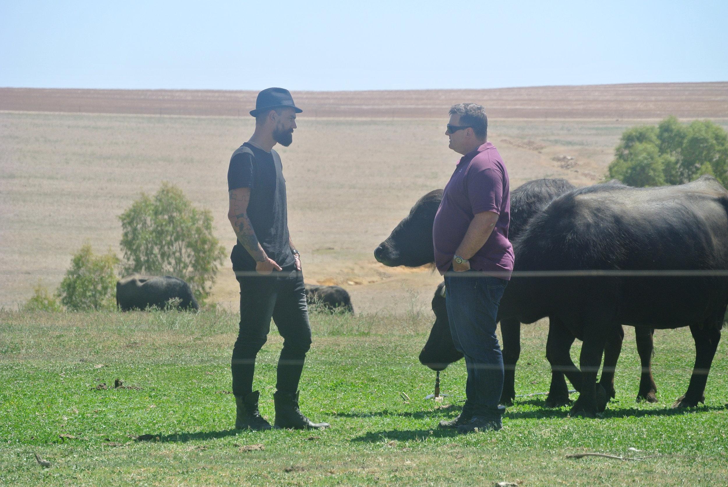 Brett with the buffalo's.JPG