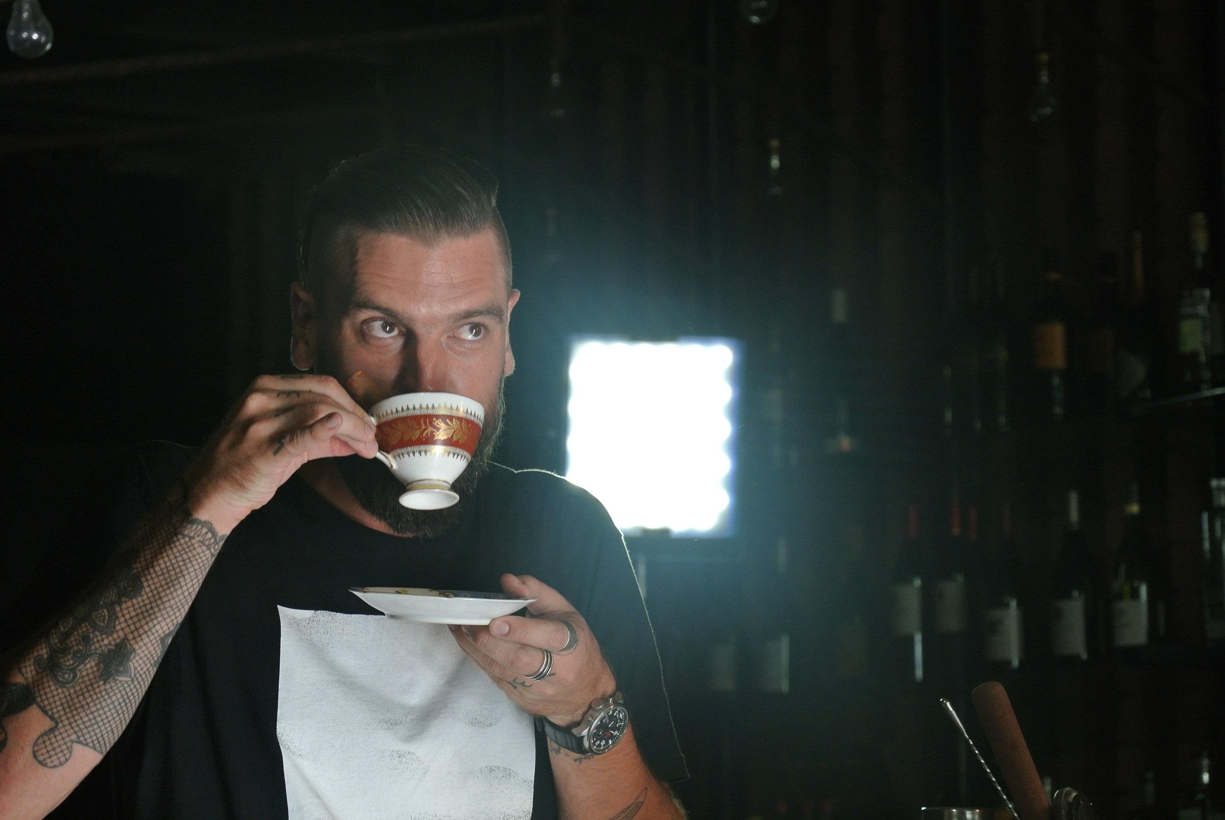 Brett drinking TeaQuila.JPG