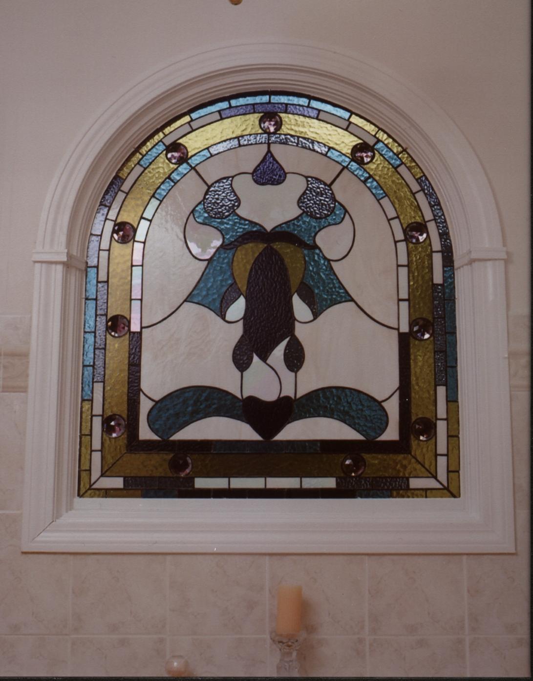 Decorative Bathroom Accent Window
