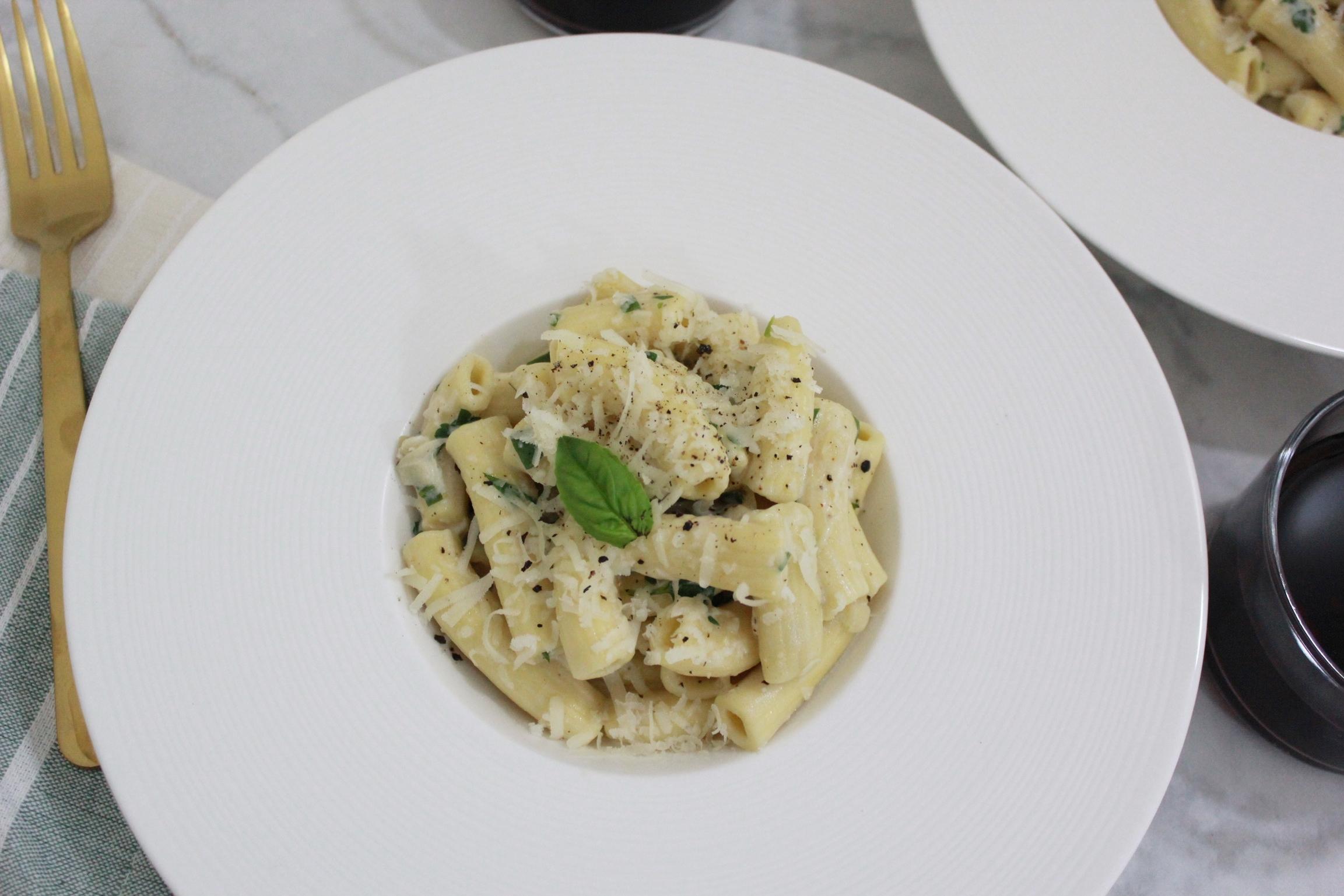 Housemade Rigatoni in Garlic Cream Sauce