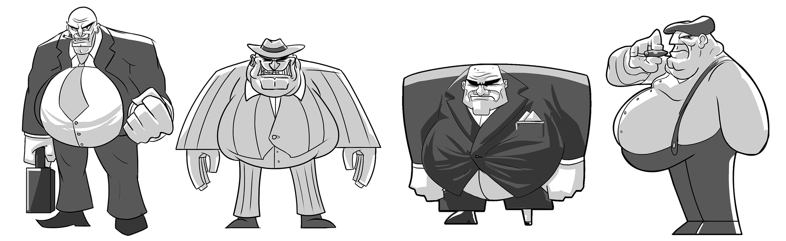 """""""Slippery Pete"""" Character Explorations"""