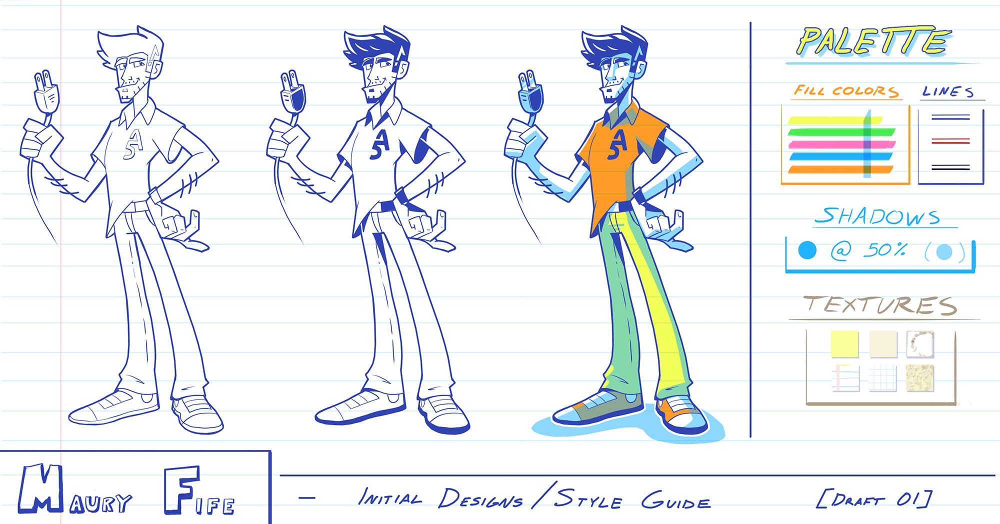 """Maury Fife"" Character Design"