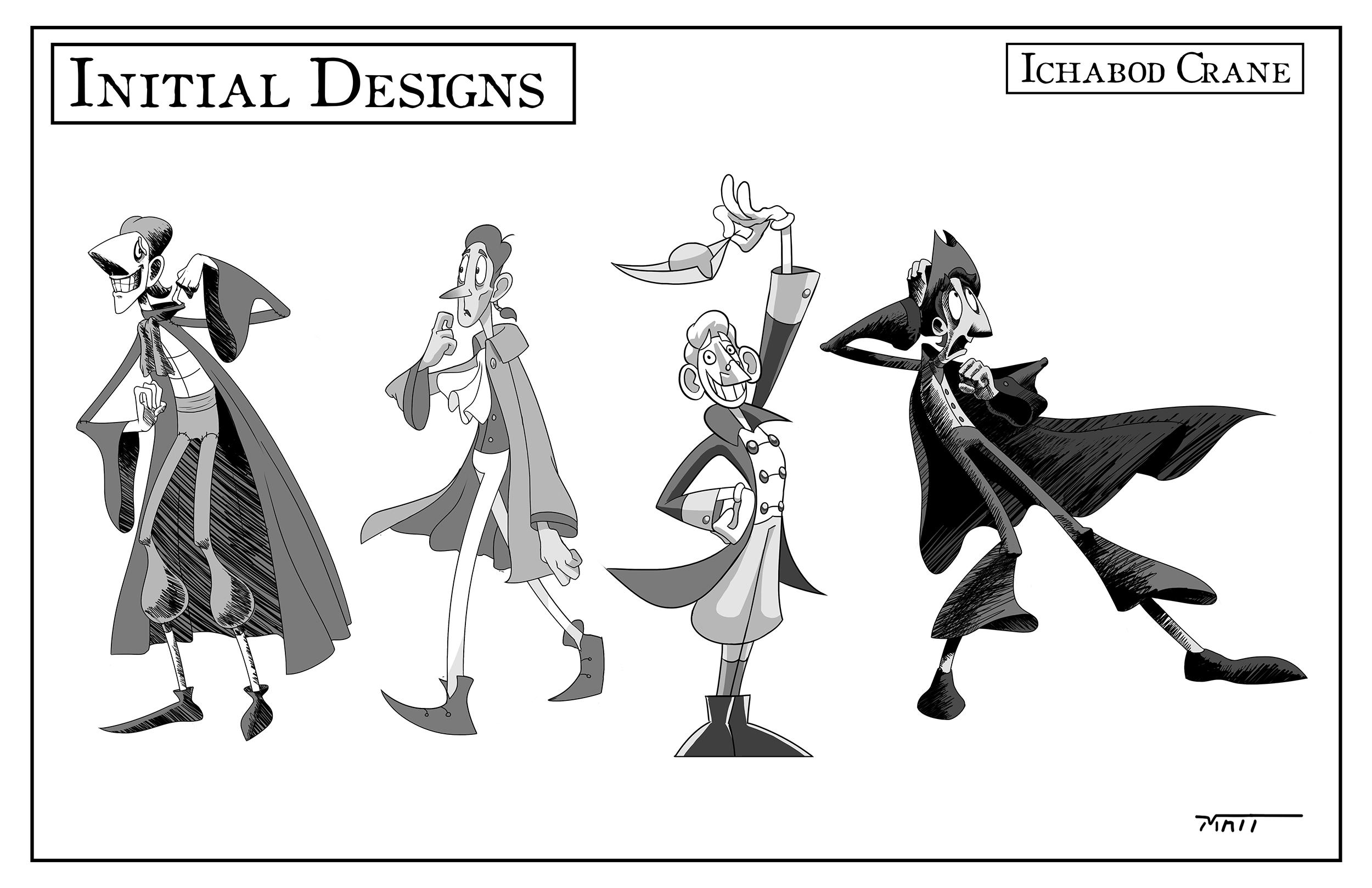Character Design: Ichabod Crane