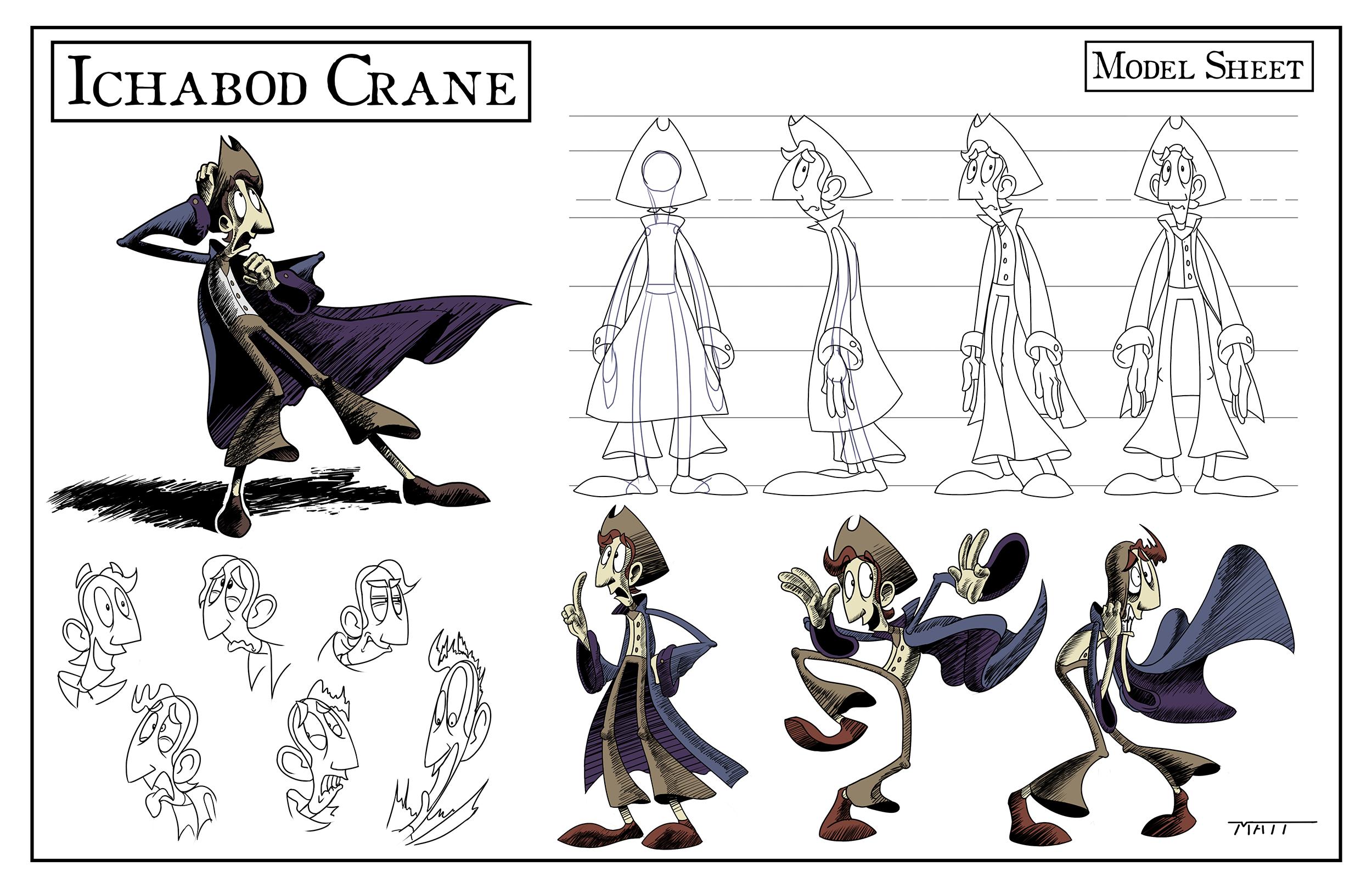 Character Design: Ichabod Crane II