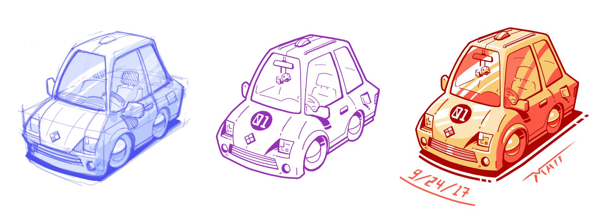 Car Render (Process)