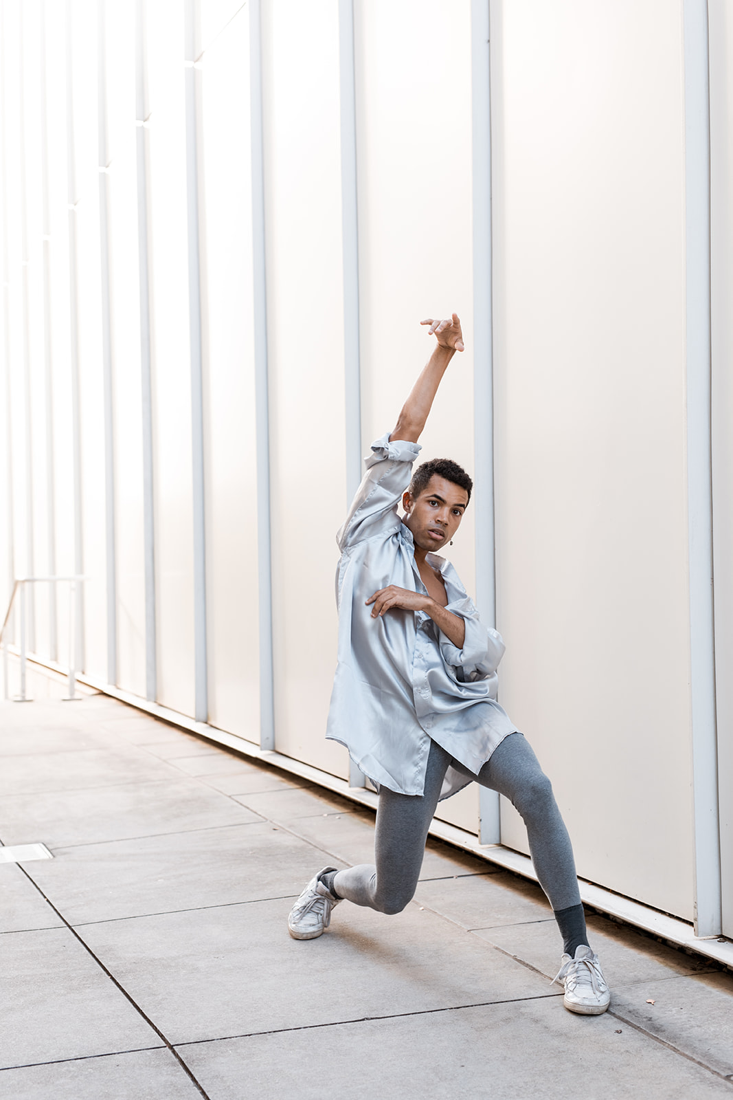 Benjamin Stevenson  is a movement artist from rural Alabama. They attended Emory University, where they received their B.A in Political Science and Arabic. In addition to their primary studies they maintained an active presence in both the Dance and Creative Writing programs. Here, they began their training in Ballet and Modern technique at the ripe age of eighteen. Upon graduating with their bachelors degree, they began cultivating their writing into movement and choreography as a means of facilitating insightful dialogue on topics such like identity politics, multiculturalism, mental health, and relationships. Benjamin enjoys using text as an impetus for their personal movement practice. Moreover, navigating their identity as a non-binary person of color is an important component in the development of their artistry. This self-navigation process is something they encourage their audience to do when experiencing their work. Currently, Benjamin resides in Atlanta, Georgia where they are rehearsing with Staibdance, Kit Modus, and Okwae Miller. Their writing has been published in Wussy Magazine, Floromancy, Adolescent Content, Emory University's queer literary magazine Mr. Ma'am., and Middle Eastern literary magazine Khabar Keslan. Benjamin has also worked with other notable artists such as Anicka Austin, Bella Dorado, Greg Catellier, Jillian Mitchell, Kathleen Wessel, Noelle Kayser, and Okwae Miller.