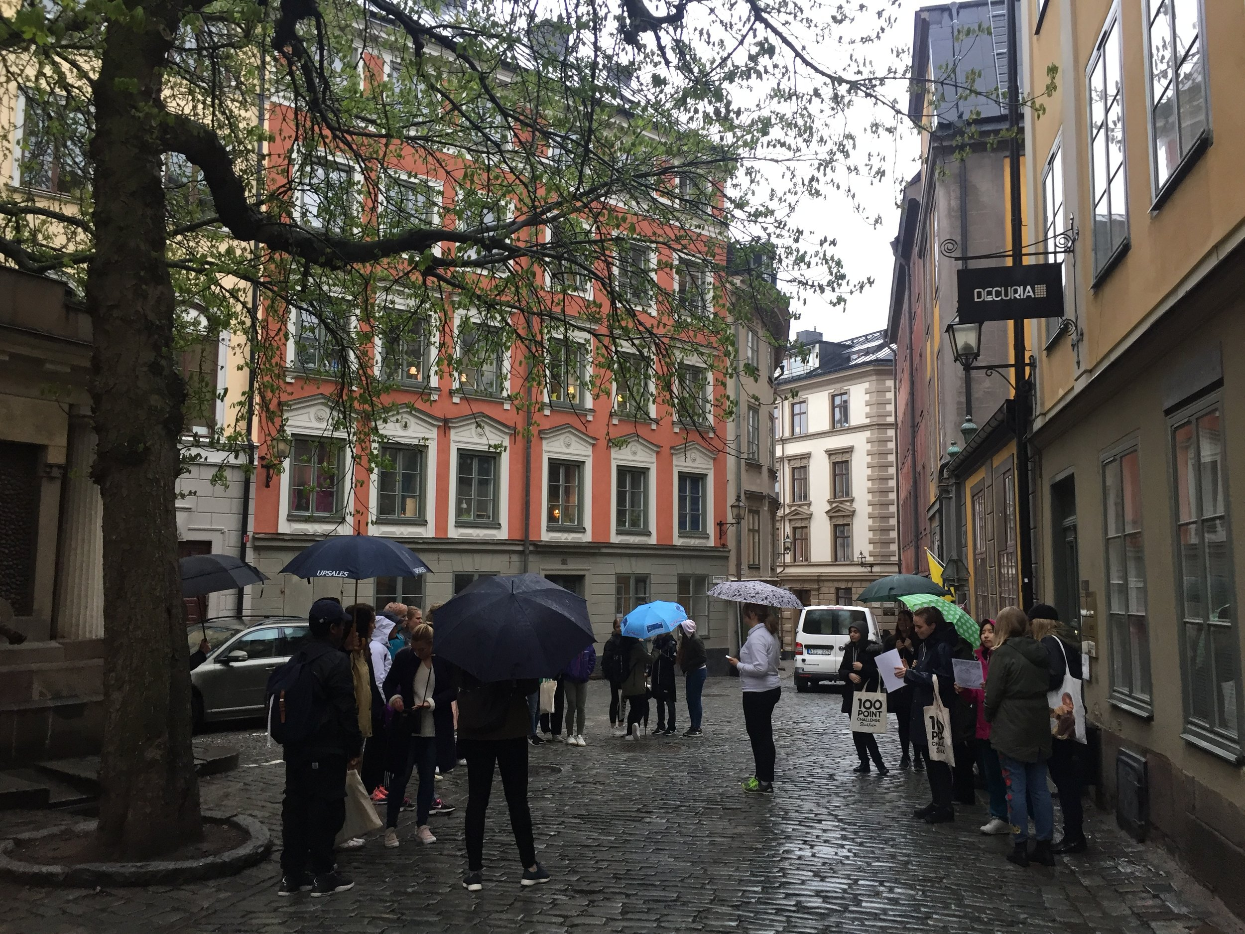 A rainy day in Stockholm!