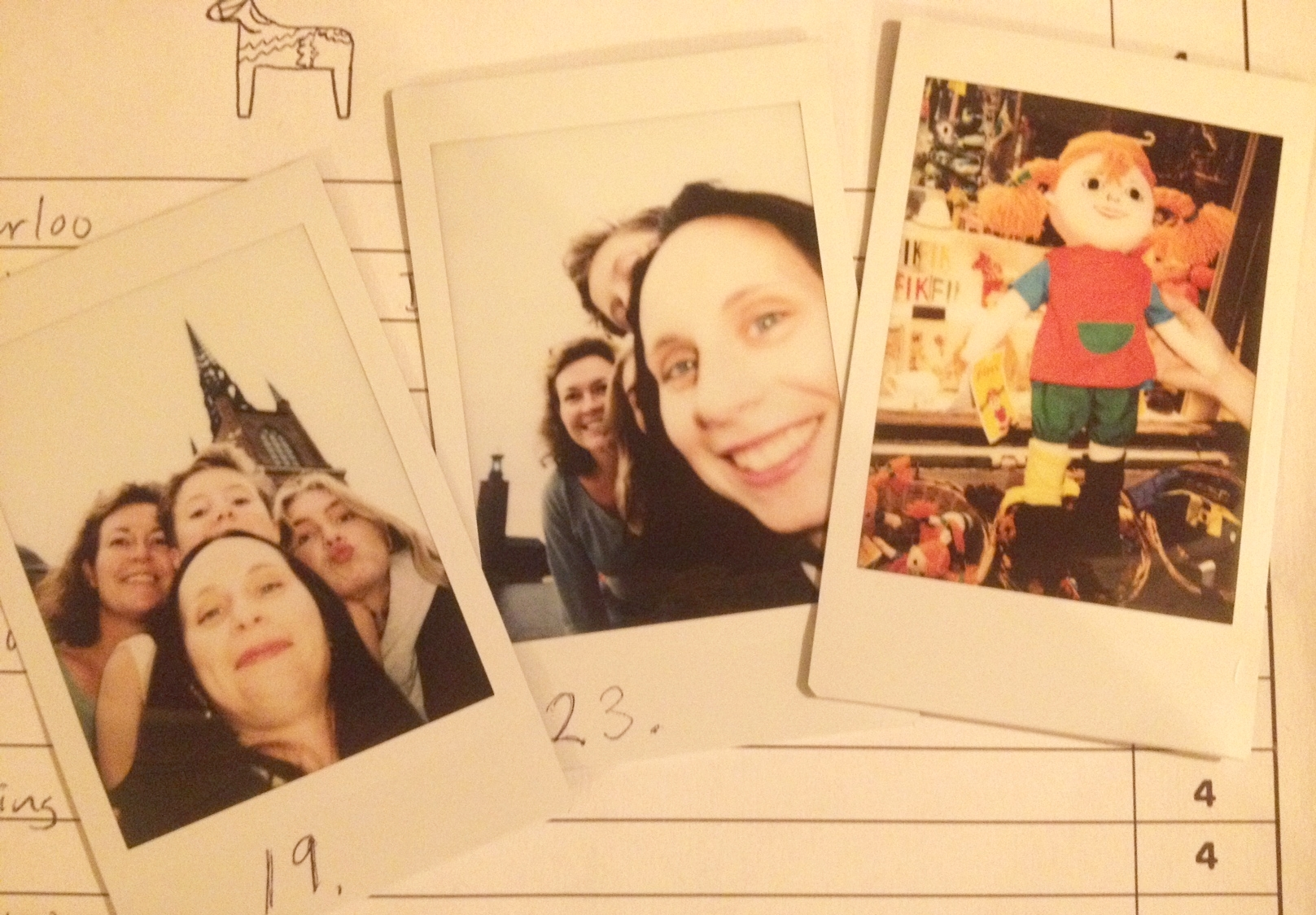 Polaroids from teams from Mentor SE