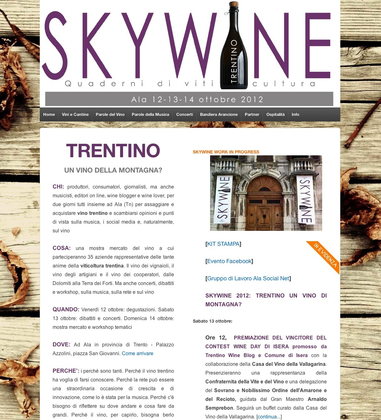 Skywine 2012