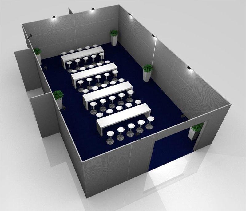 Vinitaly 2013: wine blogger area (rendering)